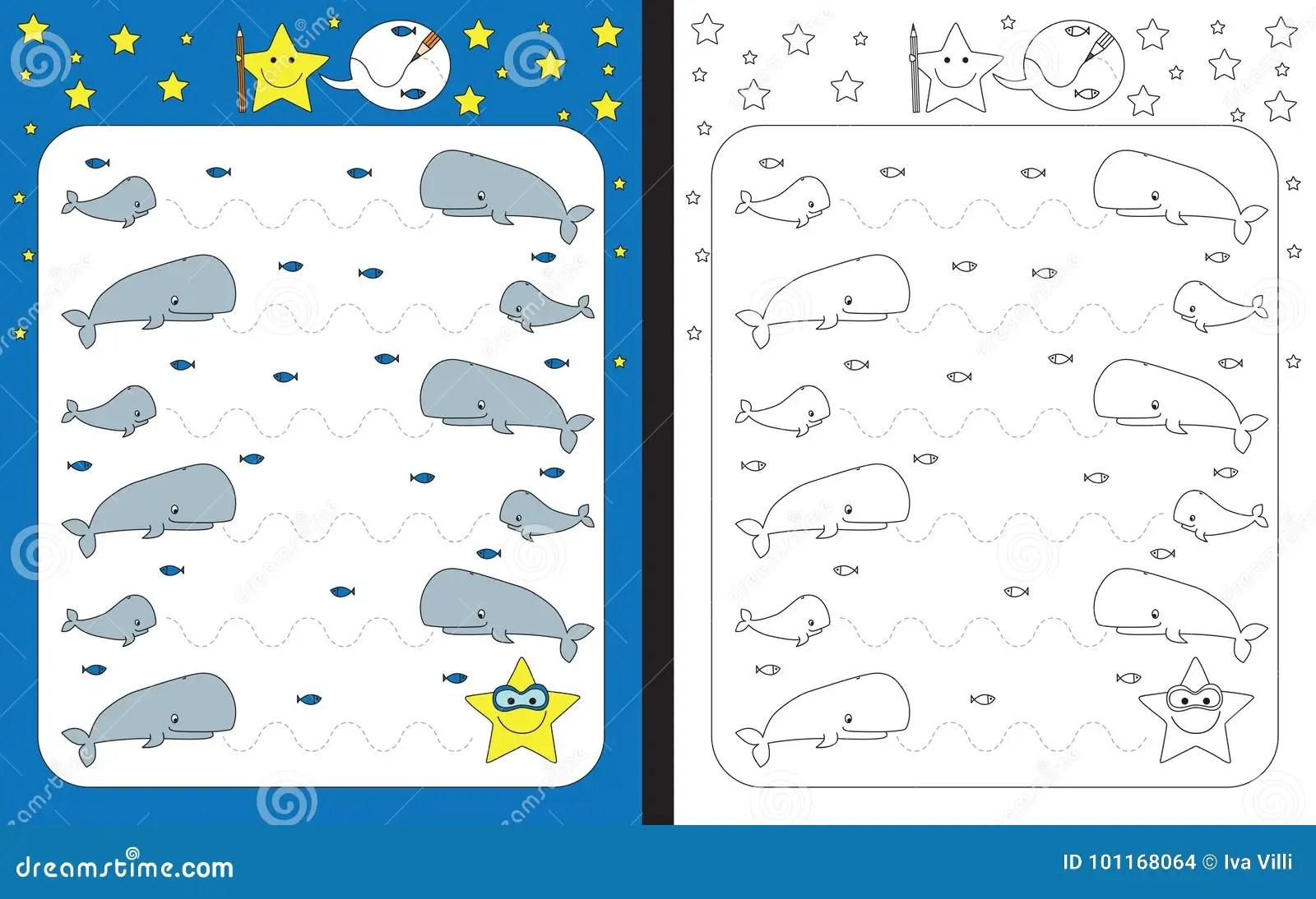 Preschool Worksheet Stock Vector Illustration Of School