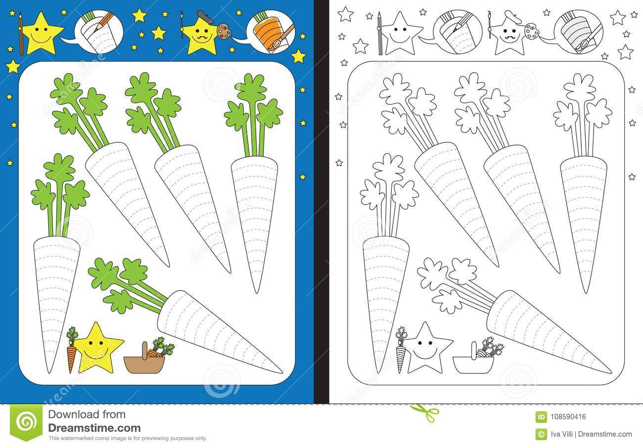 Preschool Worksheet Stock Vector Illustration Of