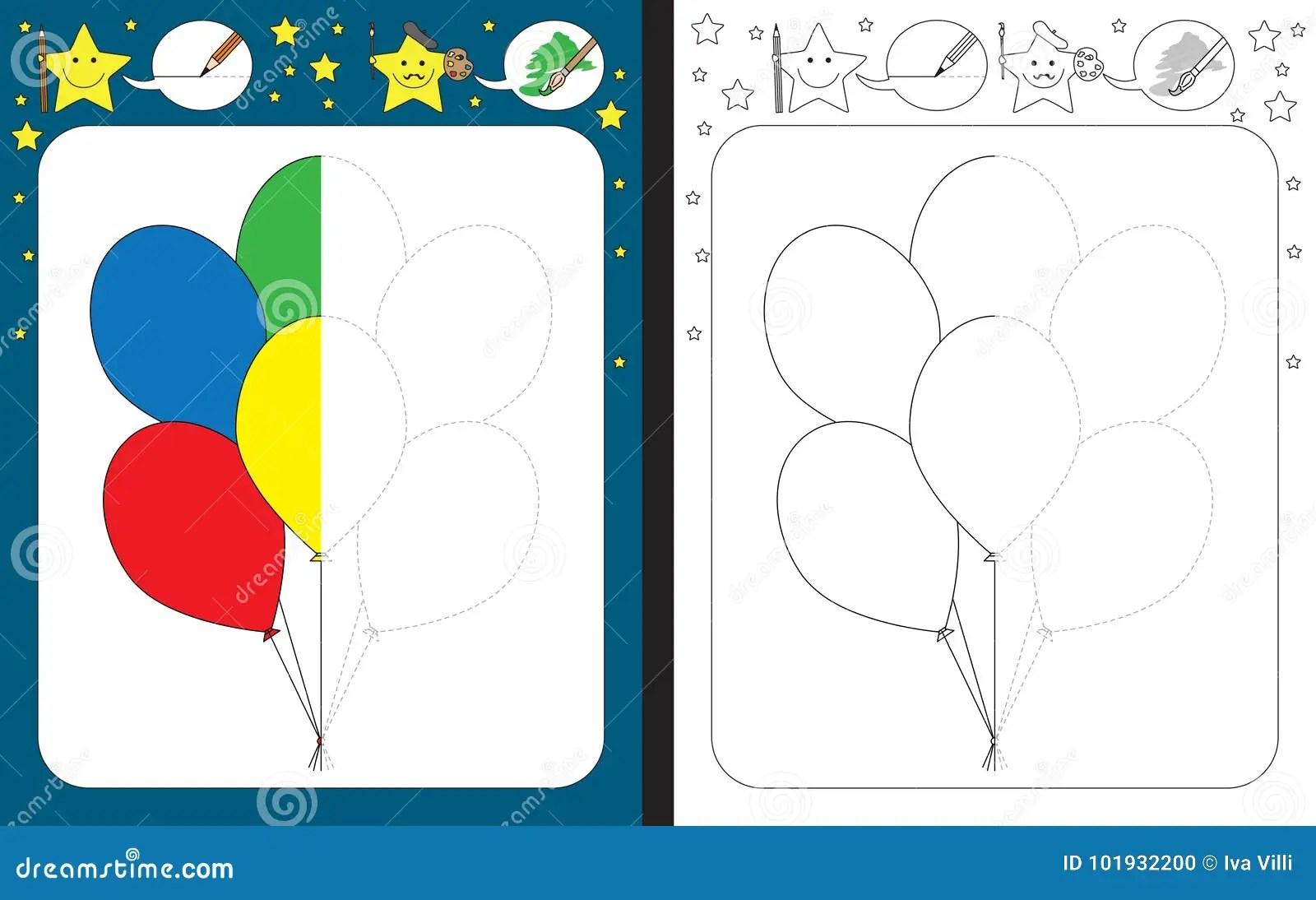 Preschool Worksheet Stock Vector Illustration Of Bunch
