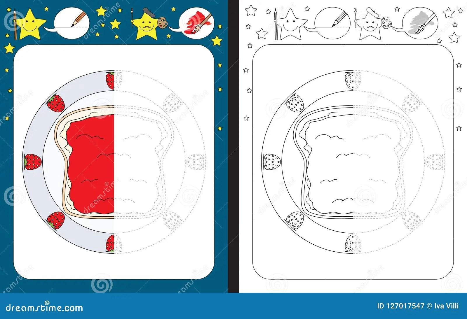 Preschool Worksheet Stock Vector Illustration Of Cartoon