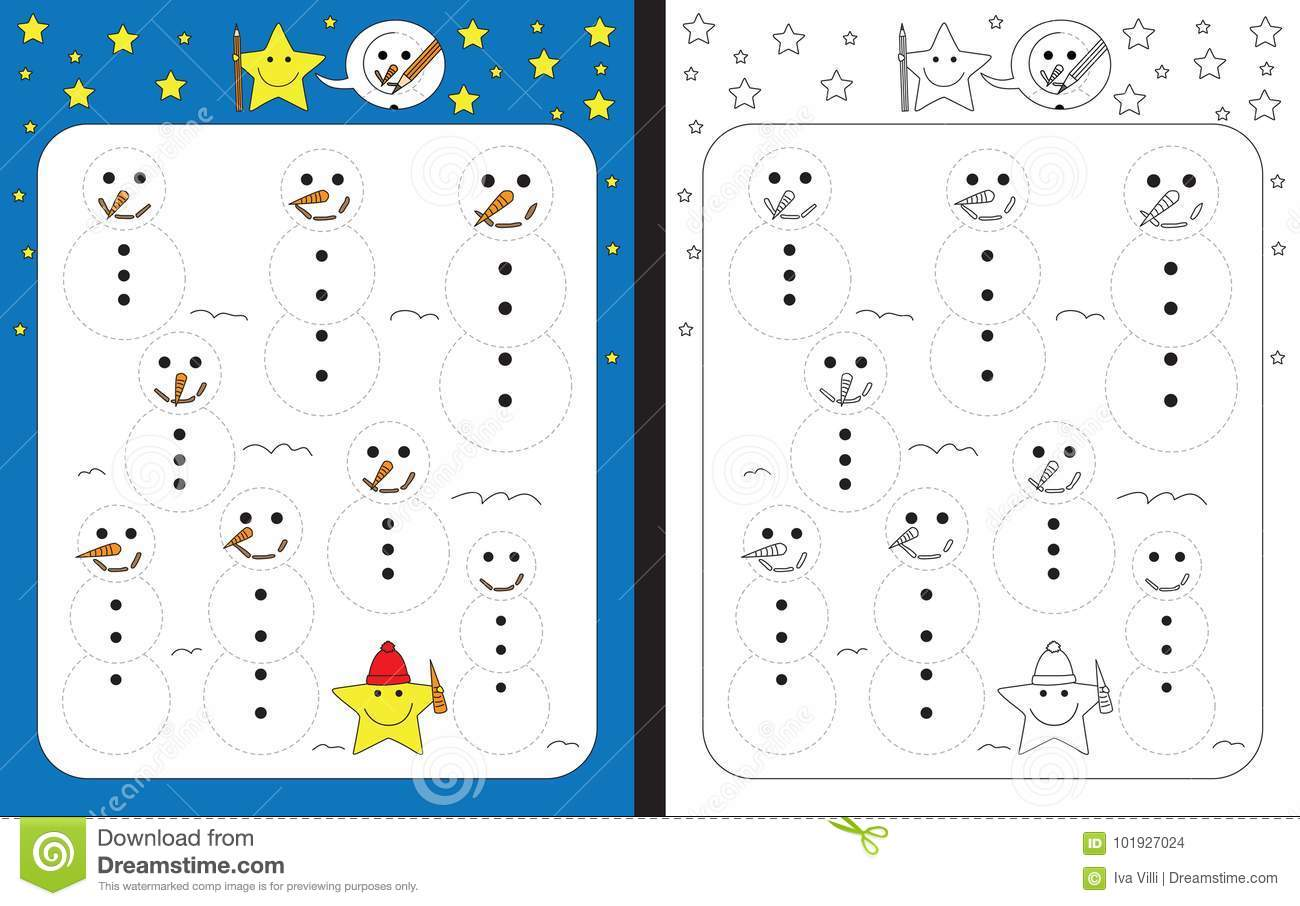 Preschool Worksheet Stock Vector Illustration Of Illustration