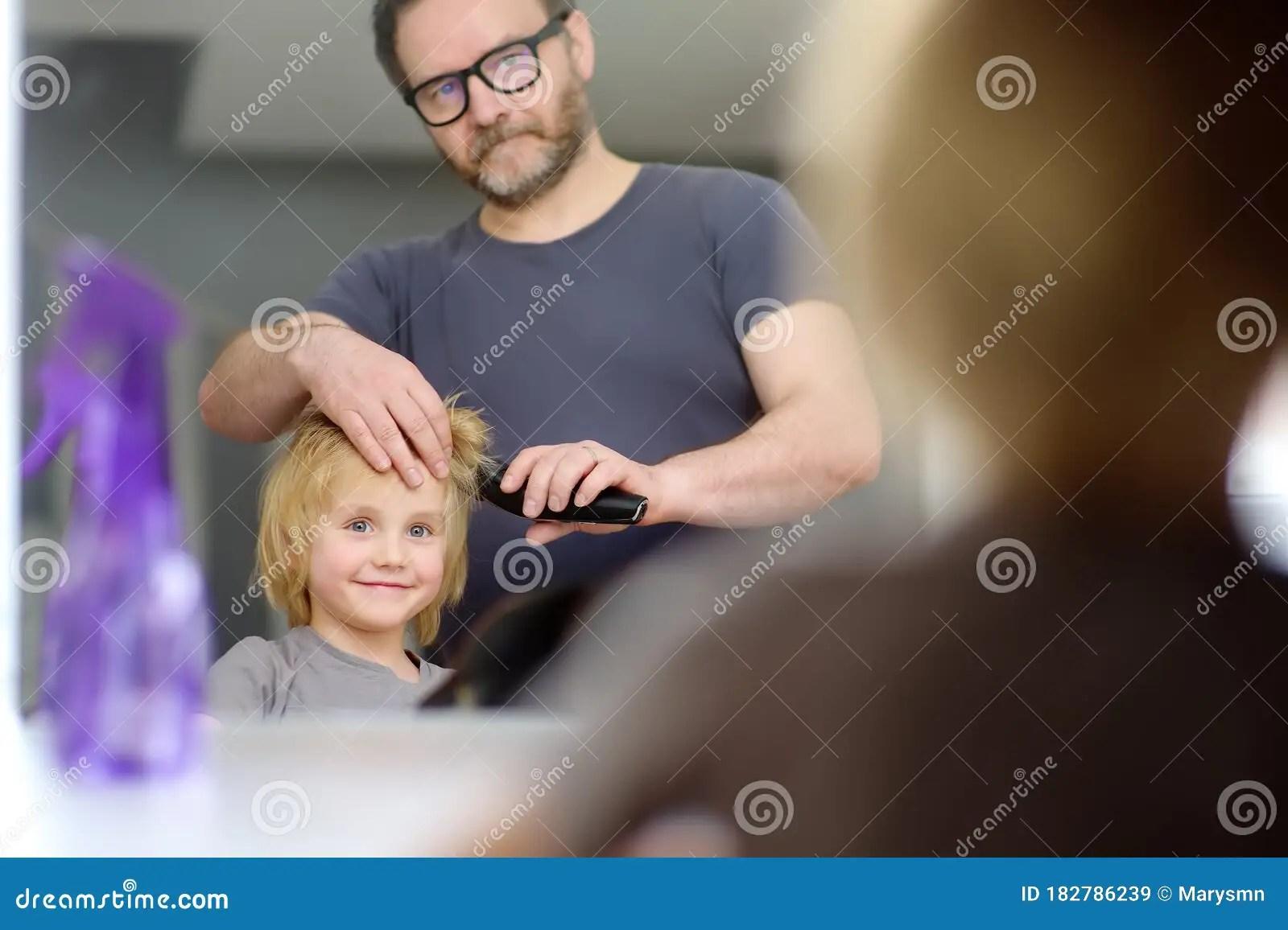 Preschooler Boy Gets Haircut At Home During Quarantine