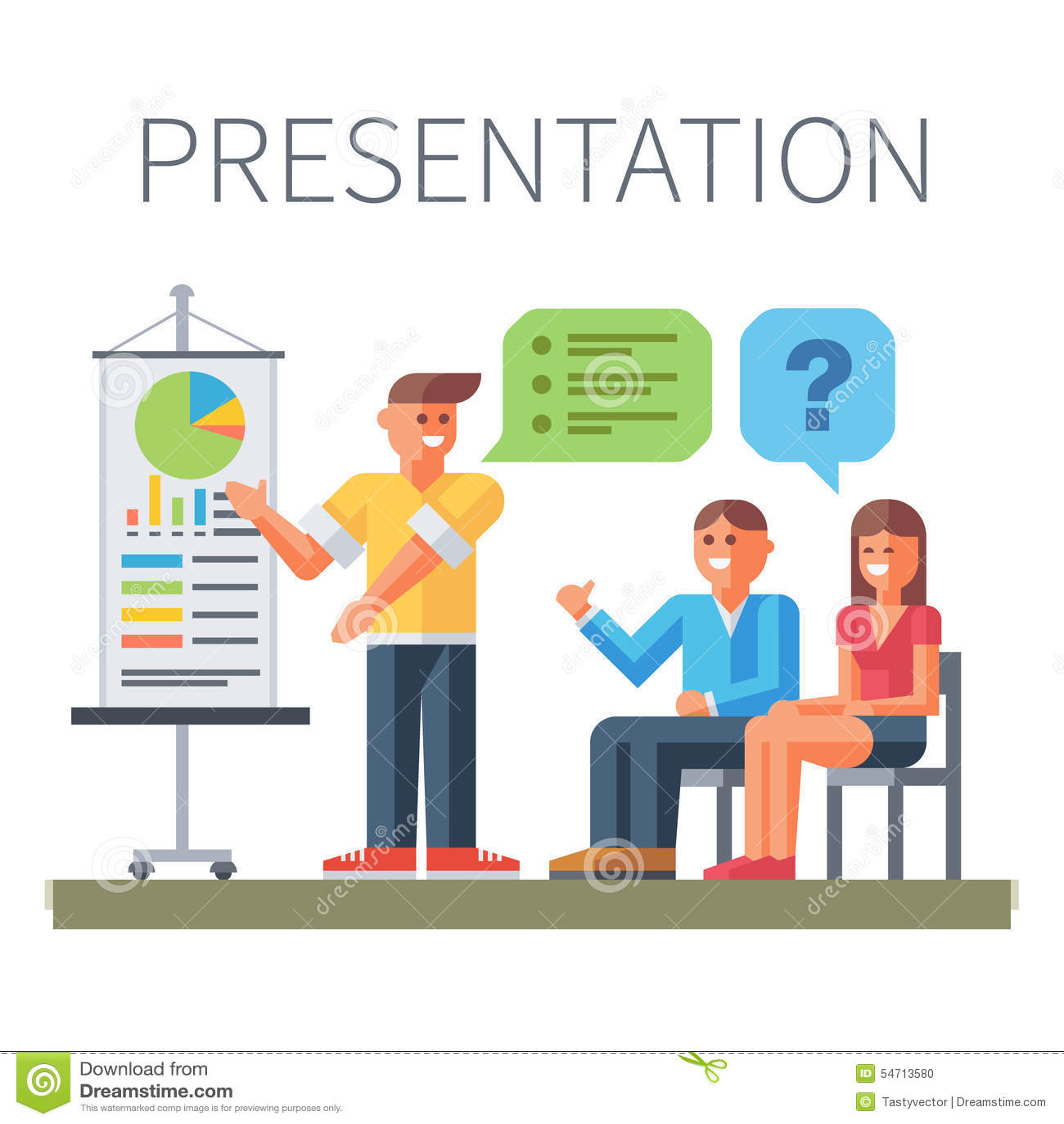 Presentation Business Training Stock Vector