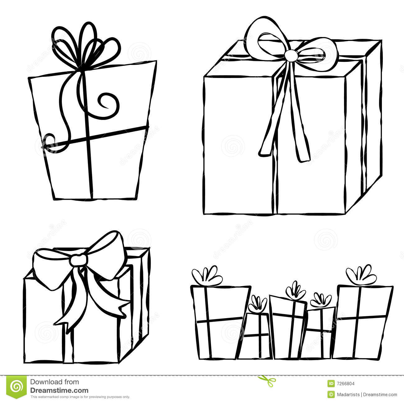 Presents Ts Line Art Stock Images