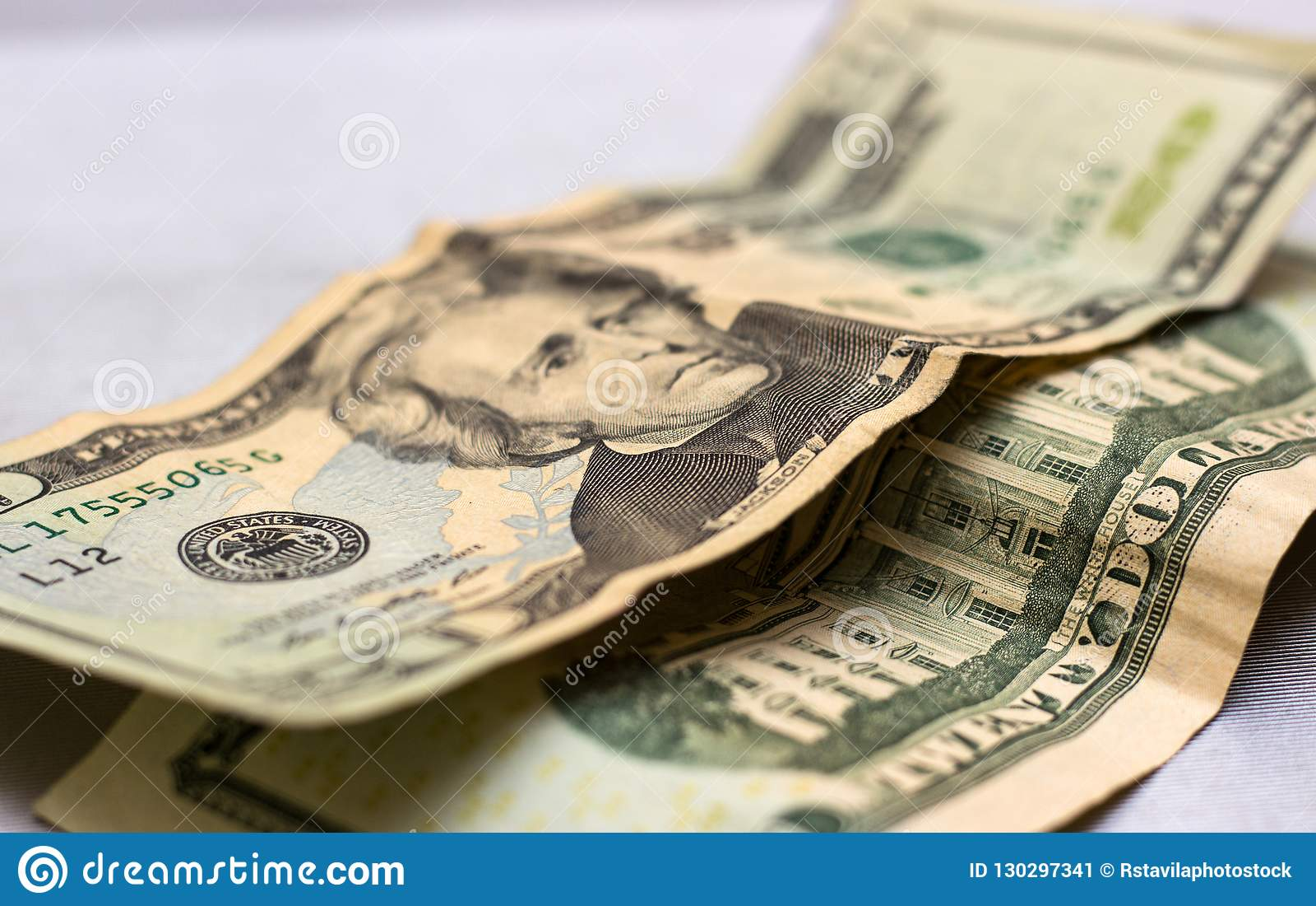 President Jackson Twenty Dollars Bill Usa Paper Money