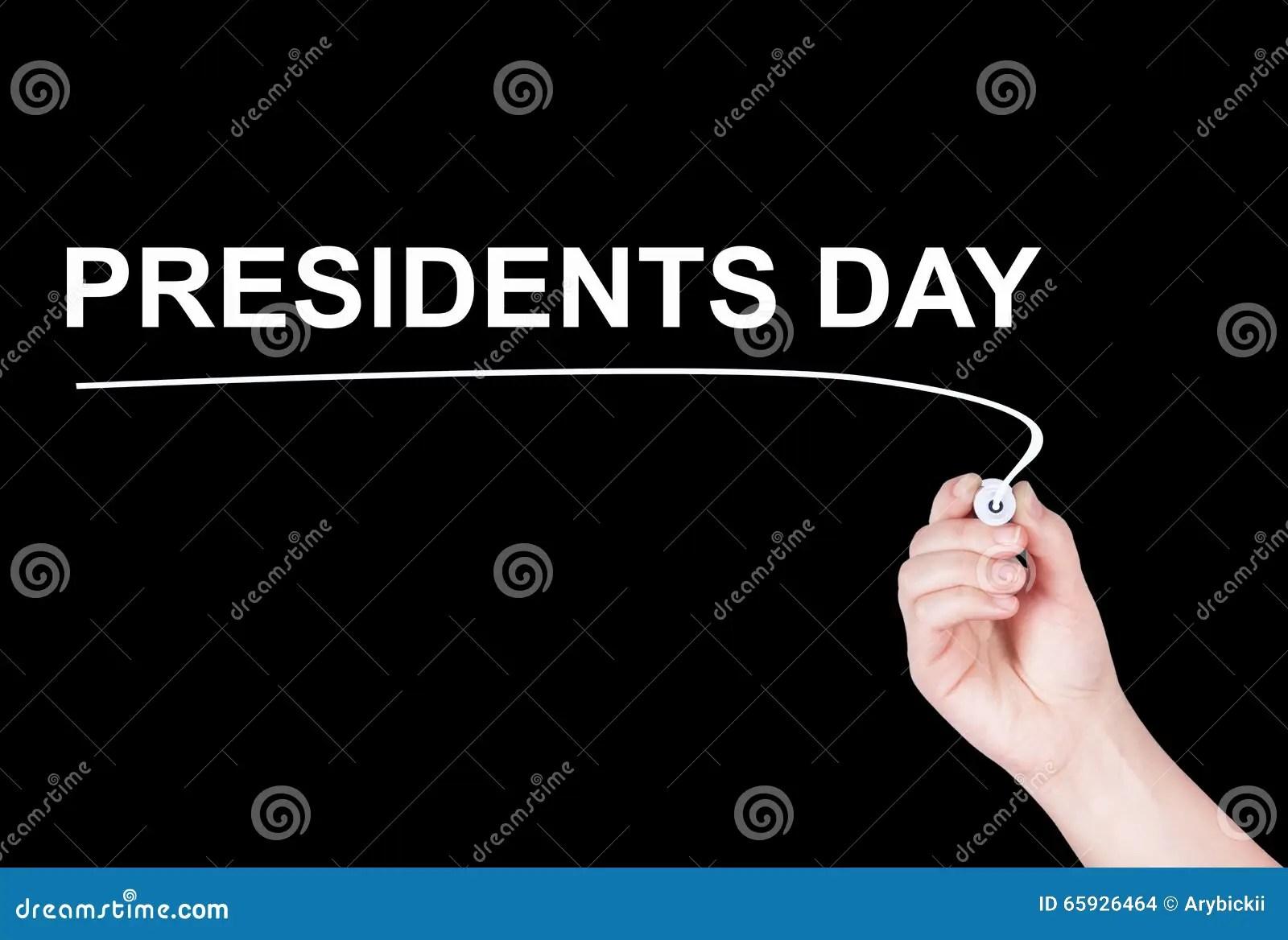 Presidents Day Word Written Stock Photo