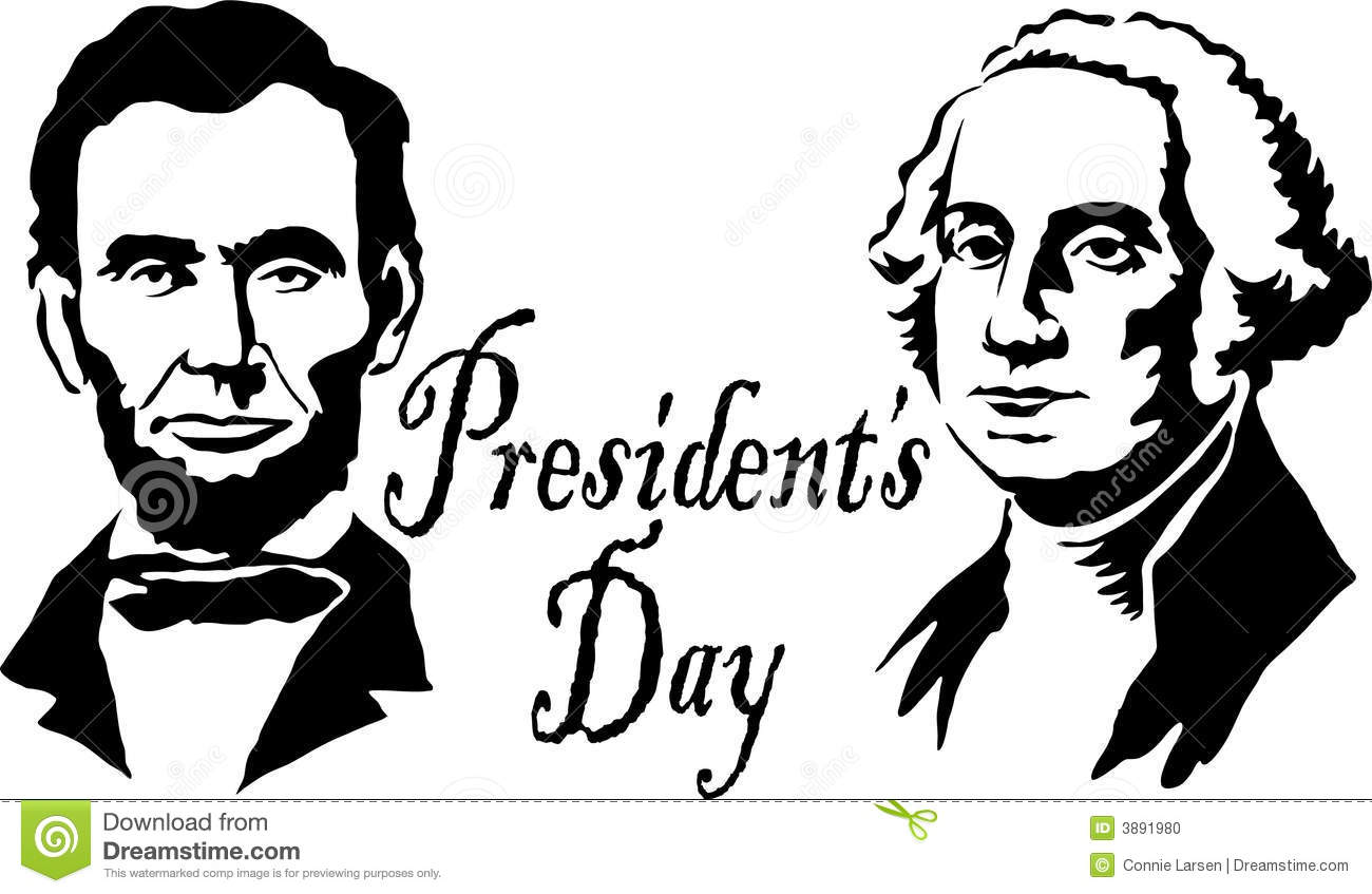 Presidents Washington Lincoln Editorial Image