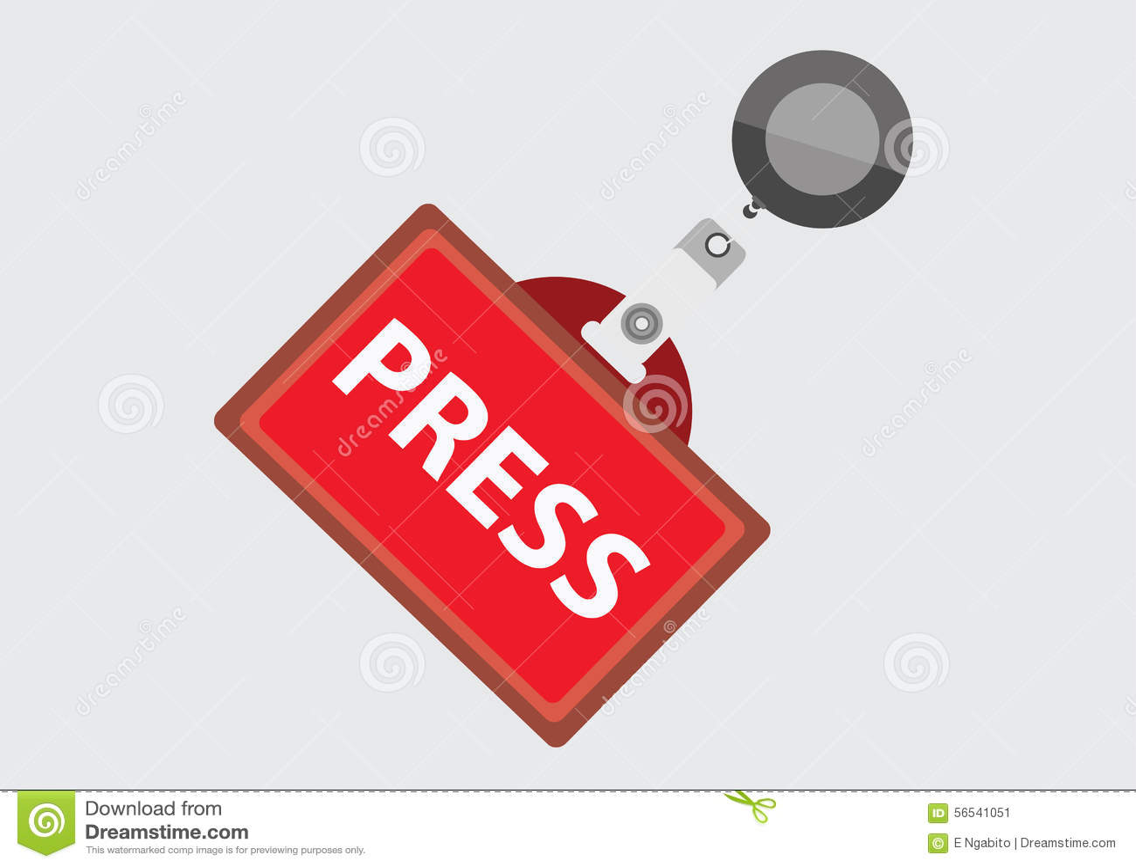 Press Pass ID Card Stock Vector Image 56541051