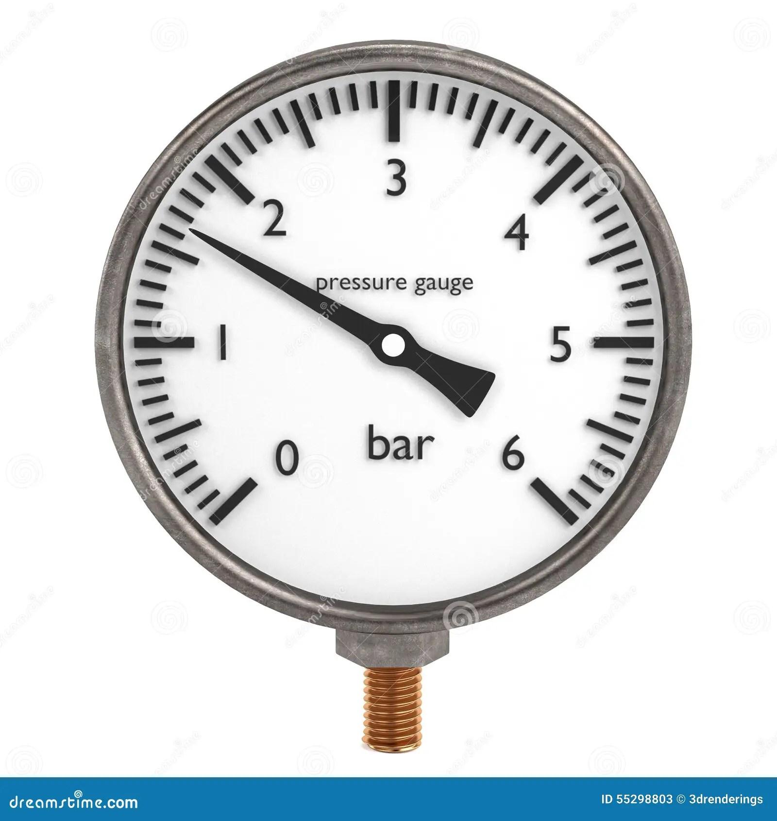 Pressure Gauge Stock Illustration