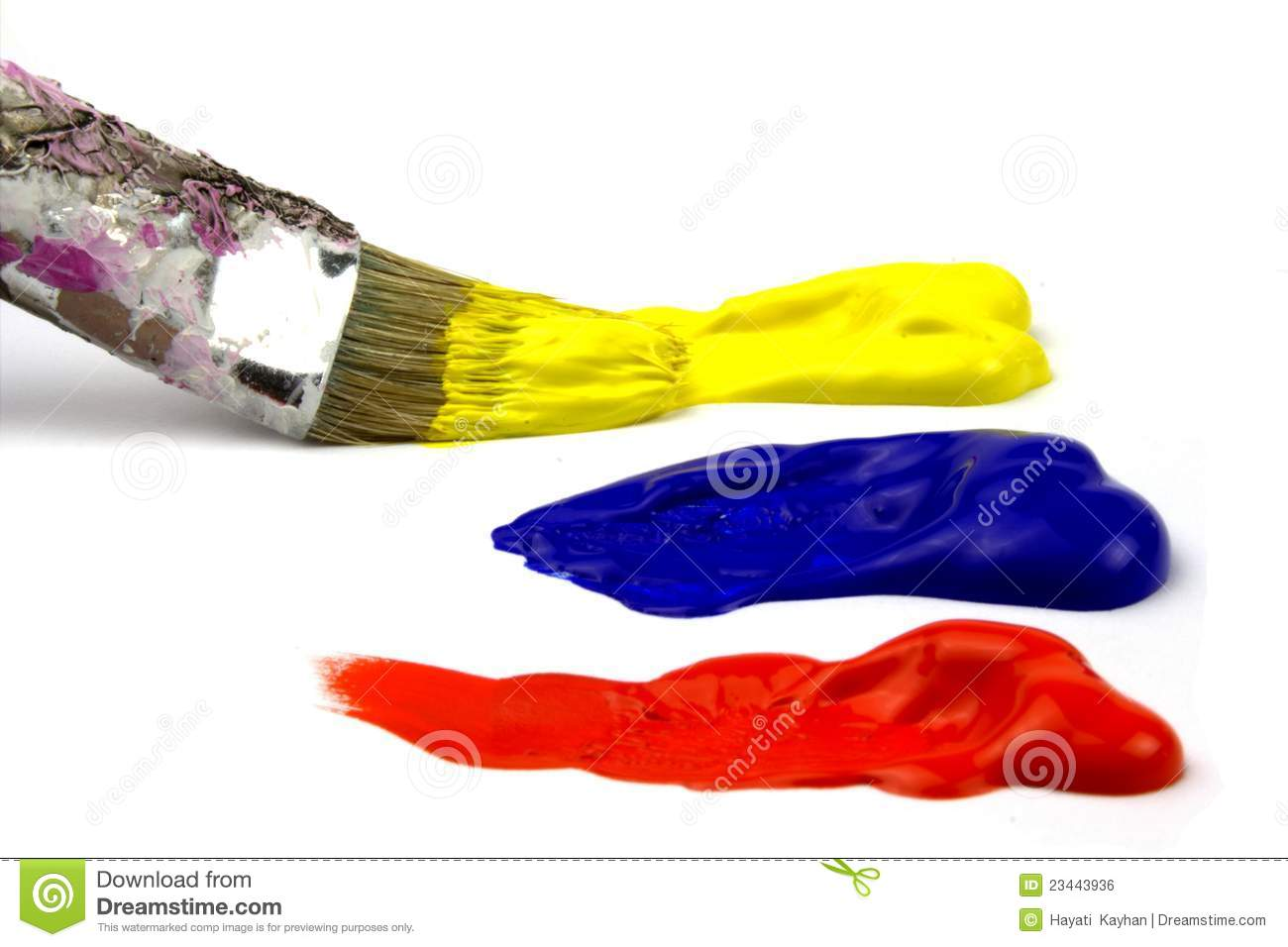 Primary Paint Colors Royalty Free Stock Image