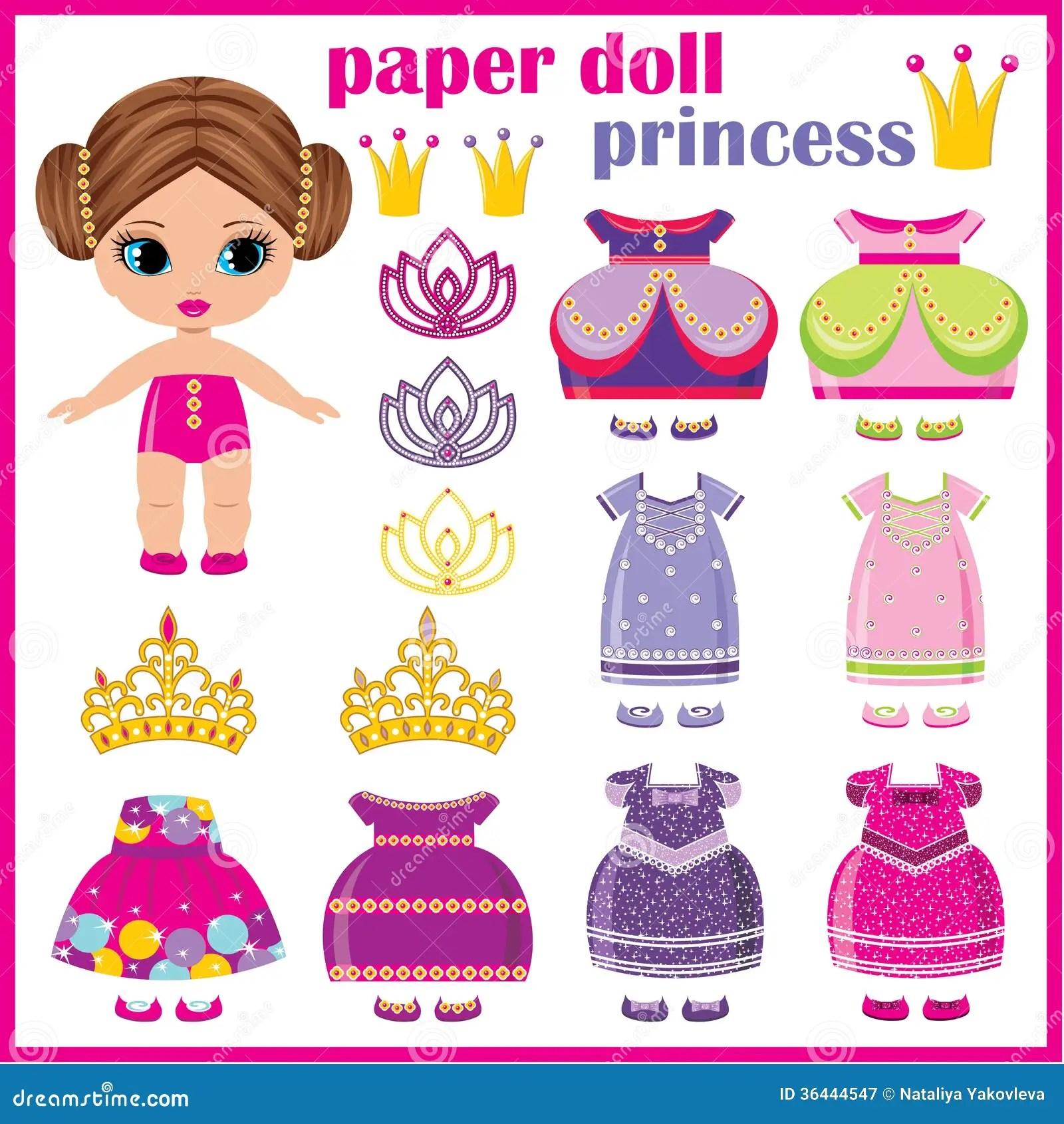 Princesse De Papier De Poupee Illustration De Vecteur