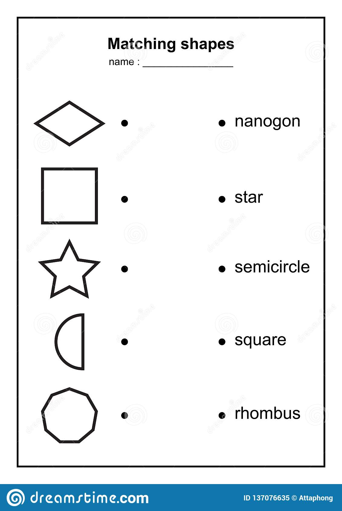 Geometry Shape Matching Game Educational Geometric Shapes
