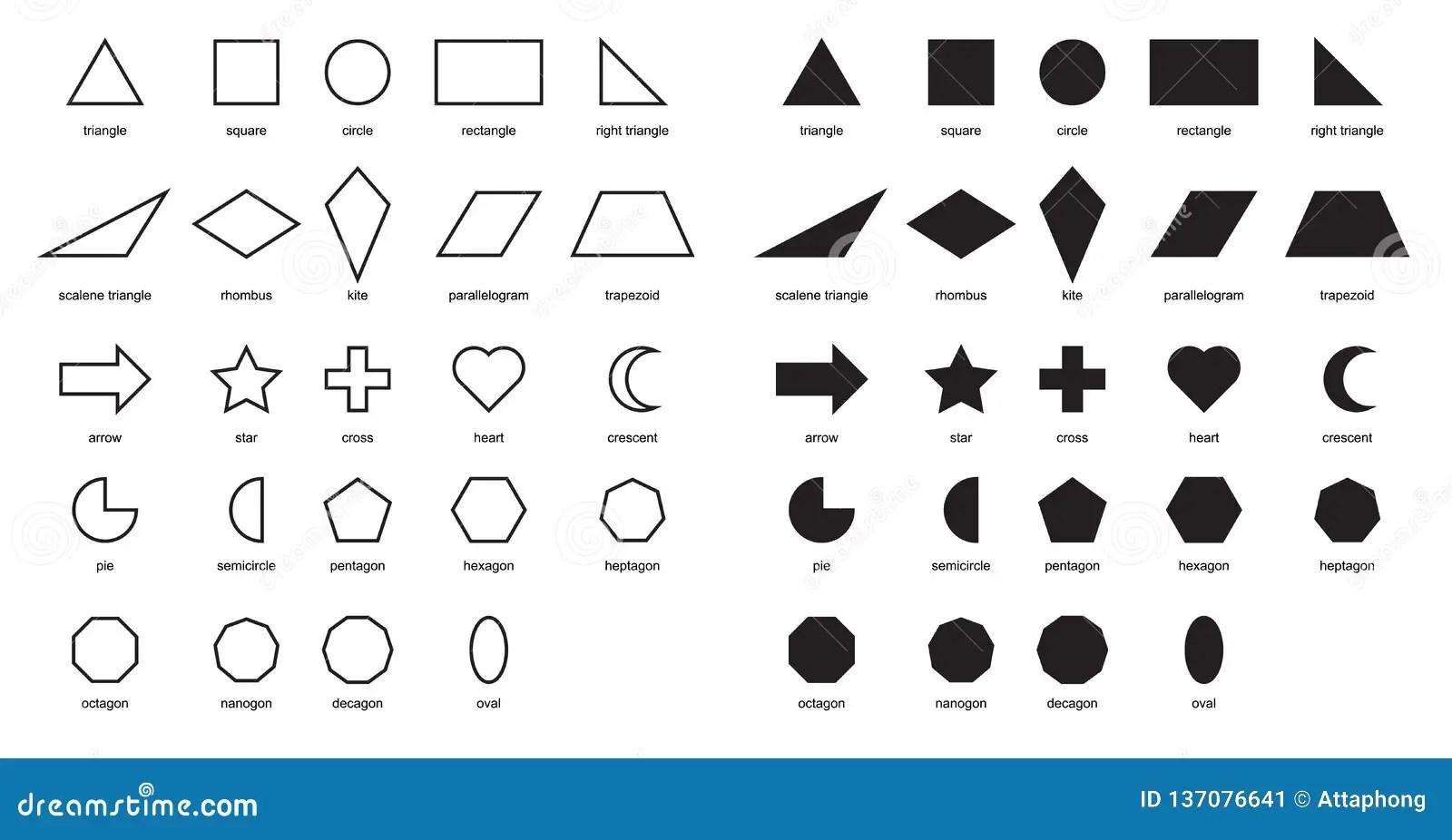2d Shapes Educational Chart Poster Shapes Basic Chart