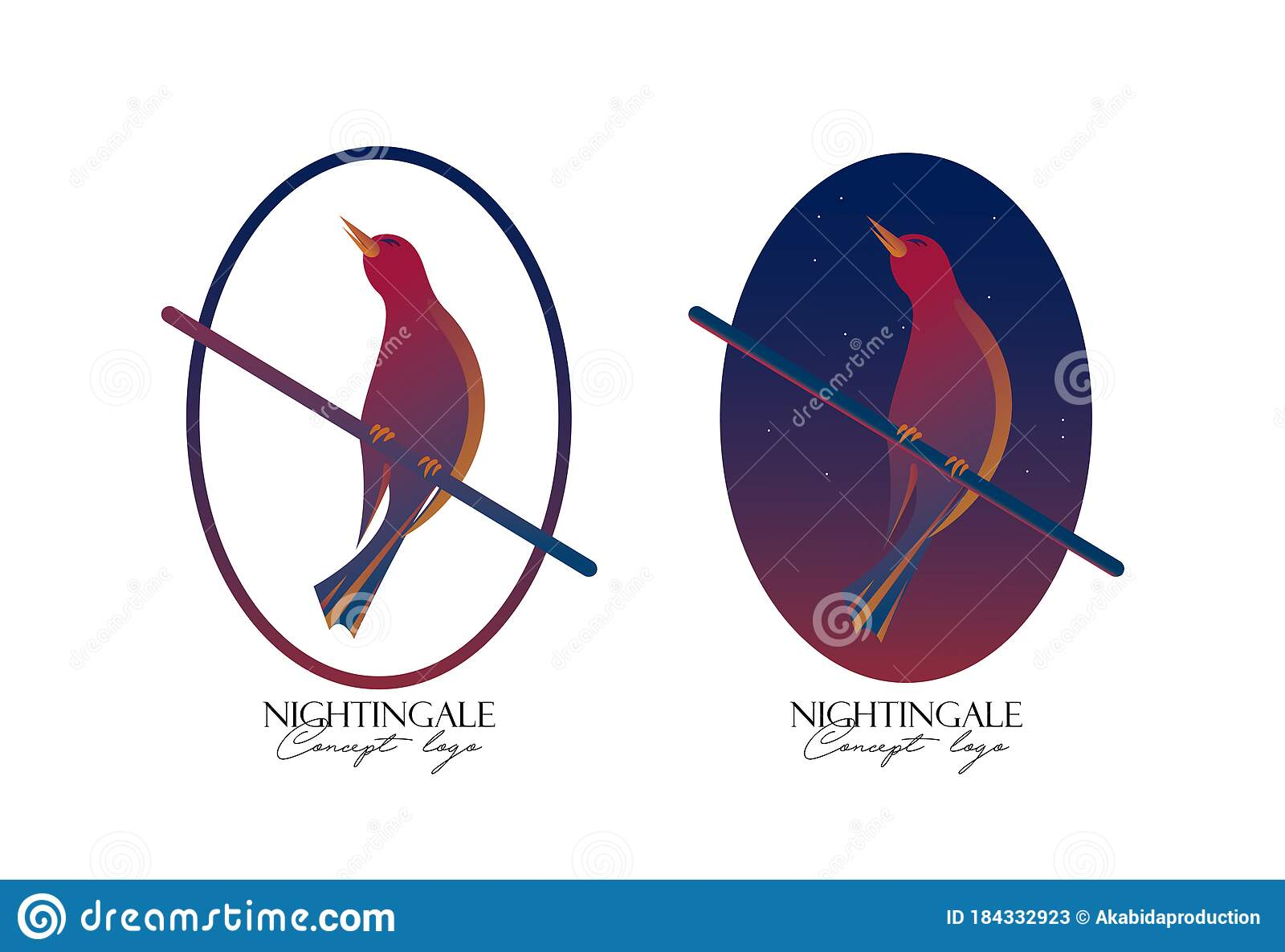 Nightingale Cartoon Vector