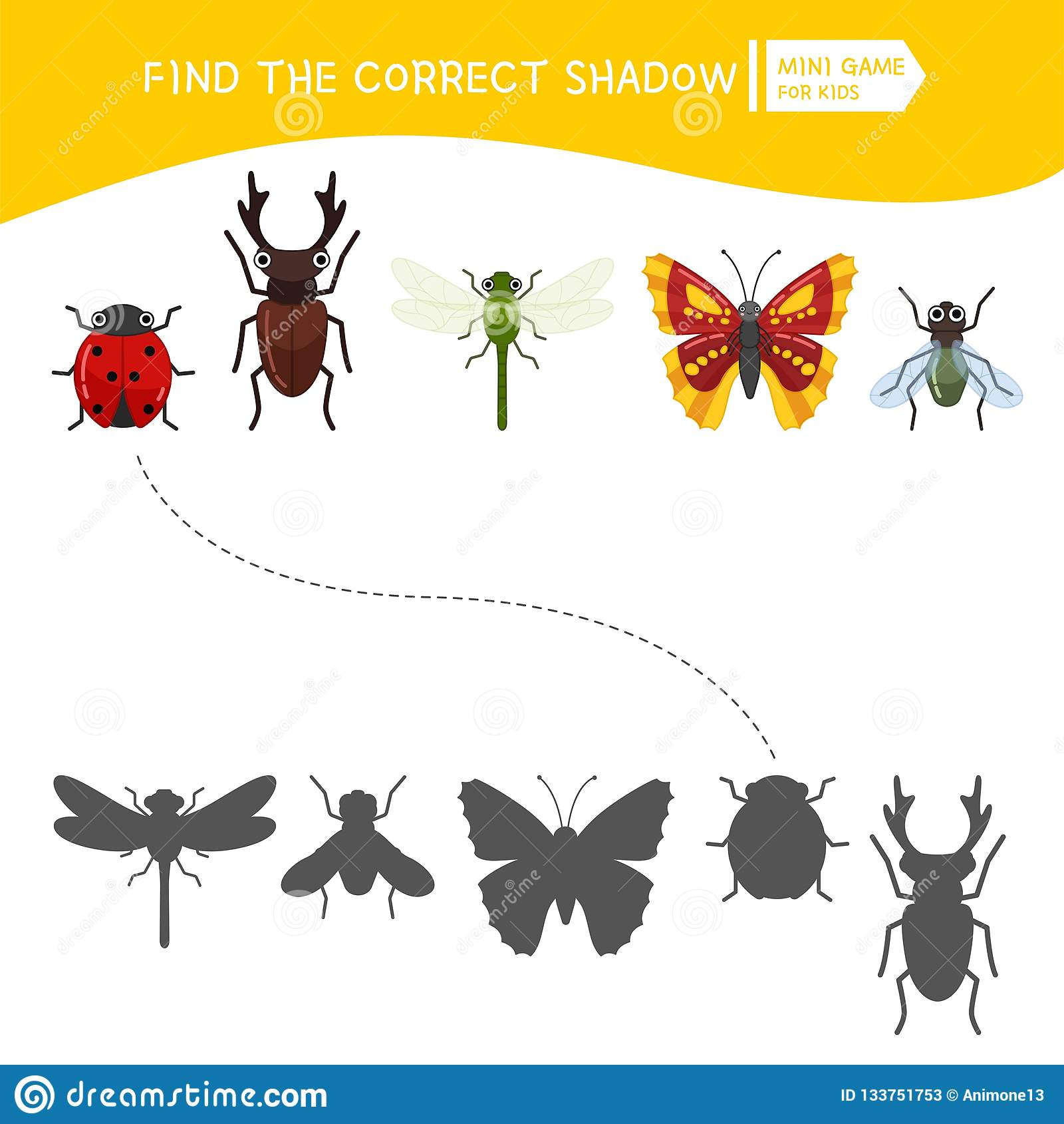 Kids Educational Game Stock Vector Illustration Of Find