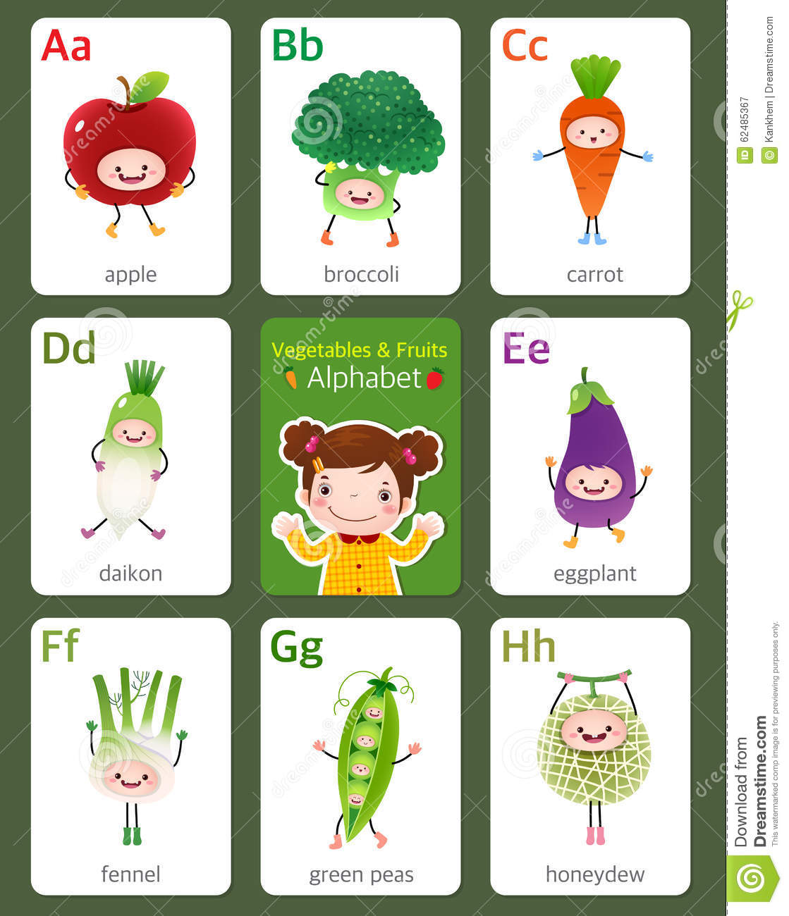 Fruit Letters And Vegetable