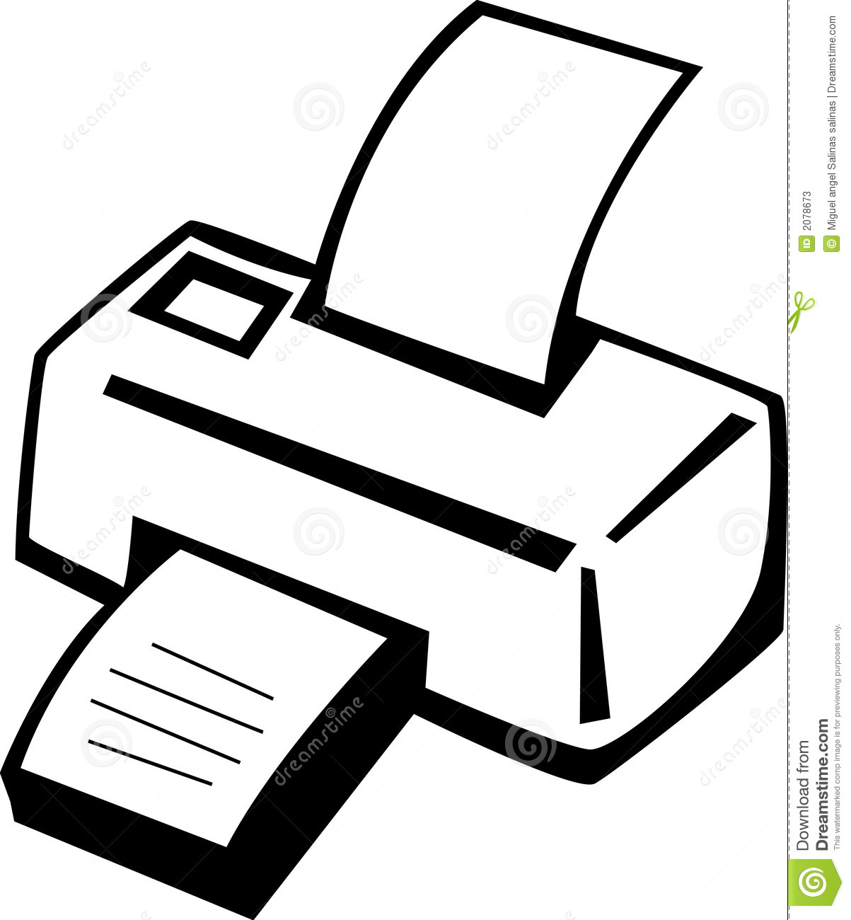 Printer Machine Vector Illustration Stock Vector