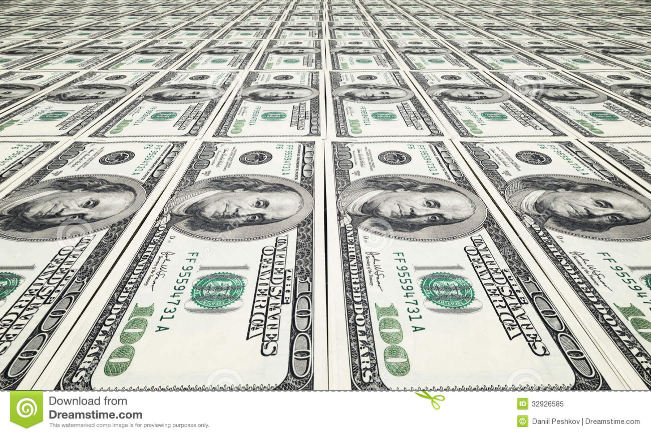 Printing Dollar Royalty Free Stock Photo