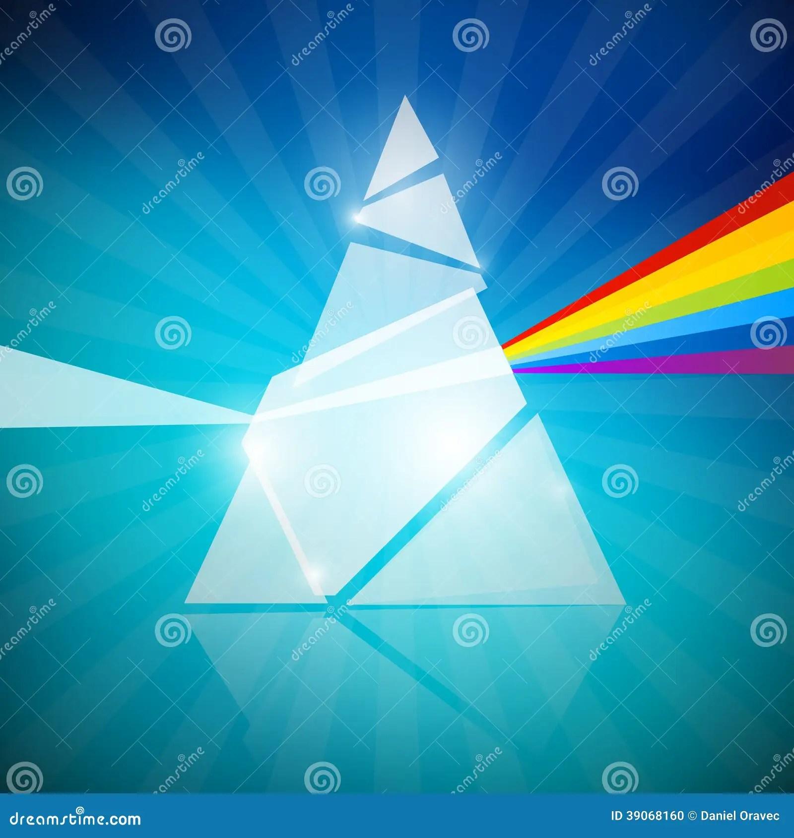 Prism Spectrum Illustration Stock Vector