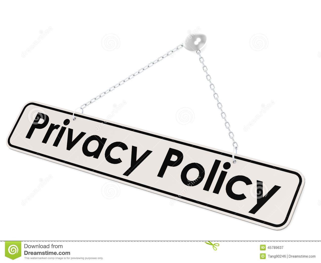 Privacy Policy Banner Stock Illustration Illustration Of