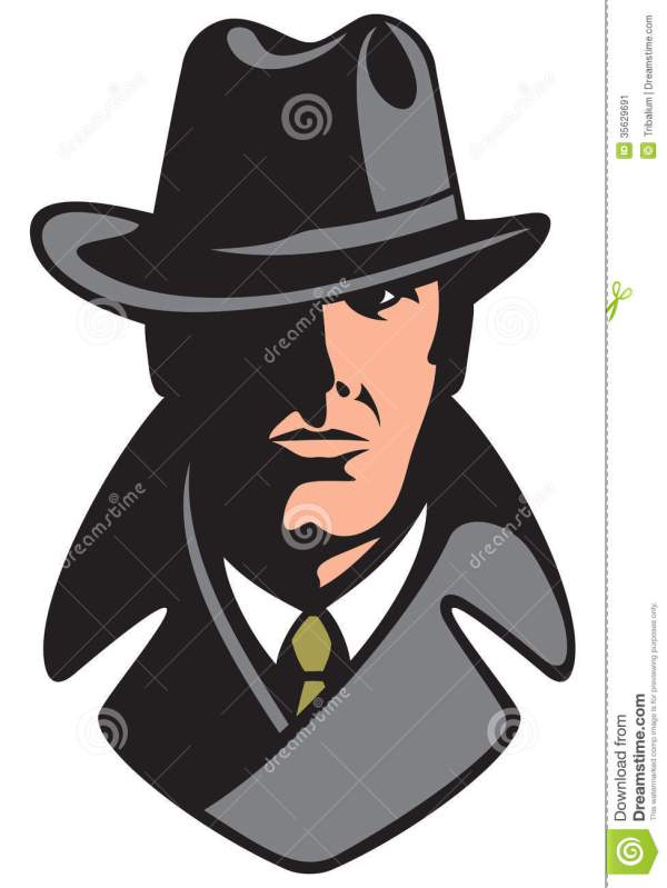 Private detective stock vector. Illustration of courts ...