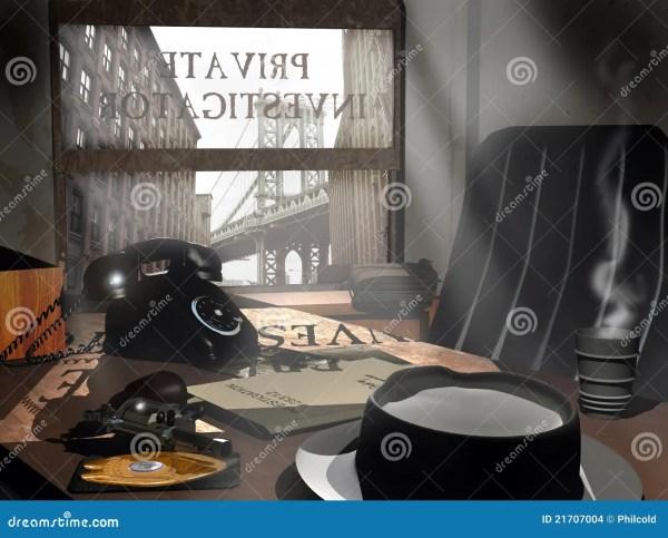 Private Investigator's Office Stock Illustration ...