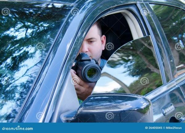 Private Investigator Stakeout Photo Documentation Stock ...