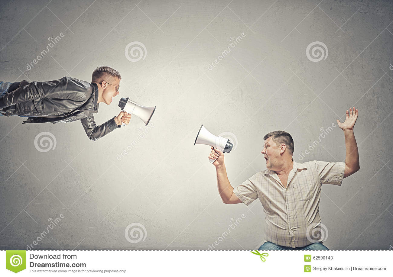 Problem Of Generation Conflict Stock Photo