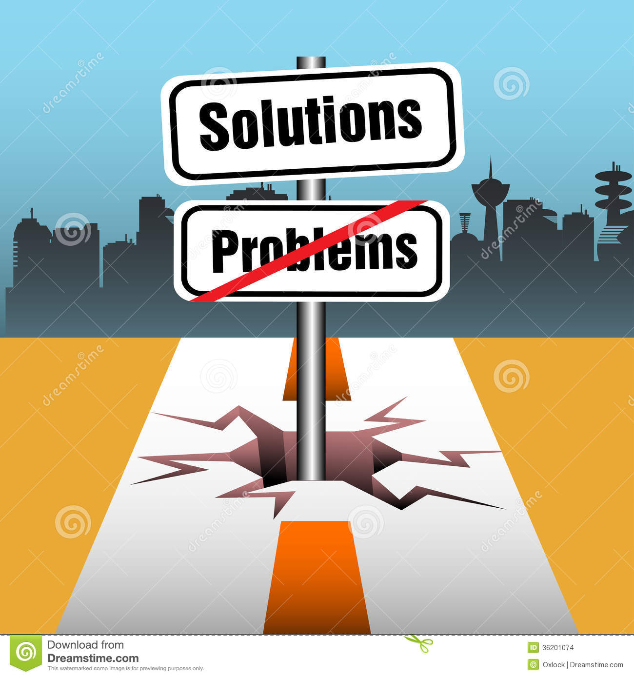 Problems And Solutions Stock Images