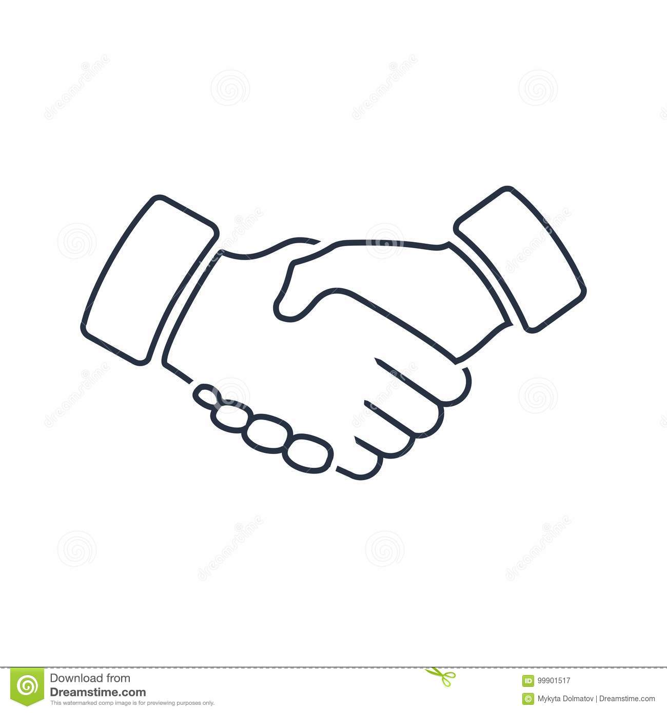Professional Welcome And Respect Handshake Icon Loyalty