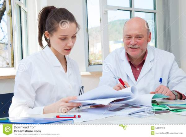 Professor And Student Girl In The Exam Stock Image - Image ...