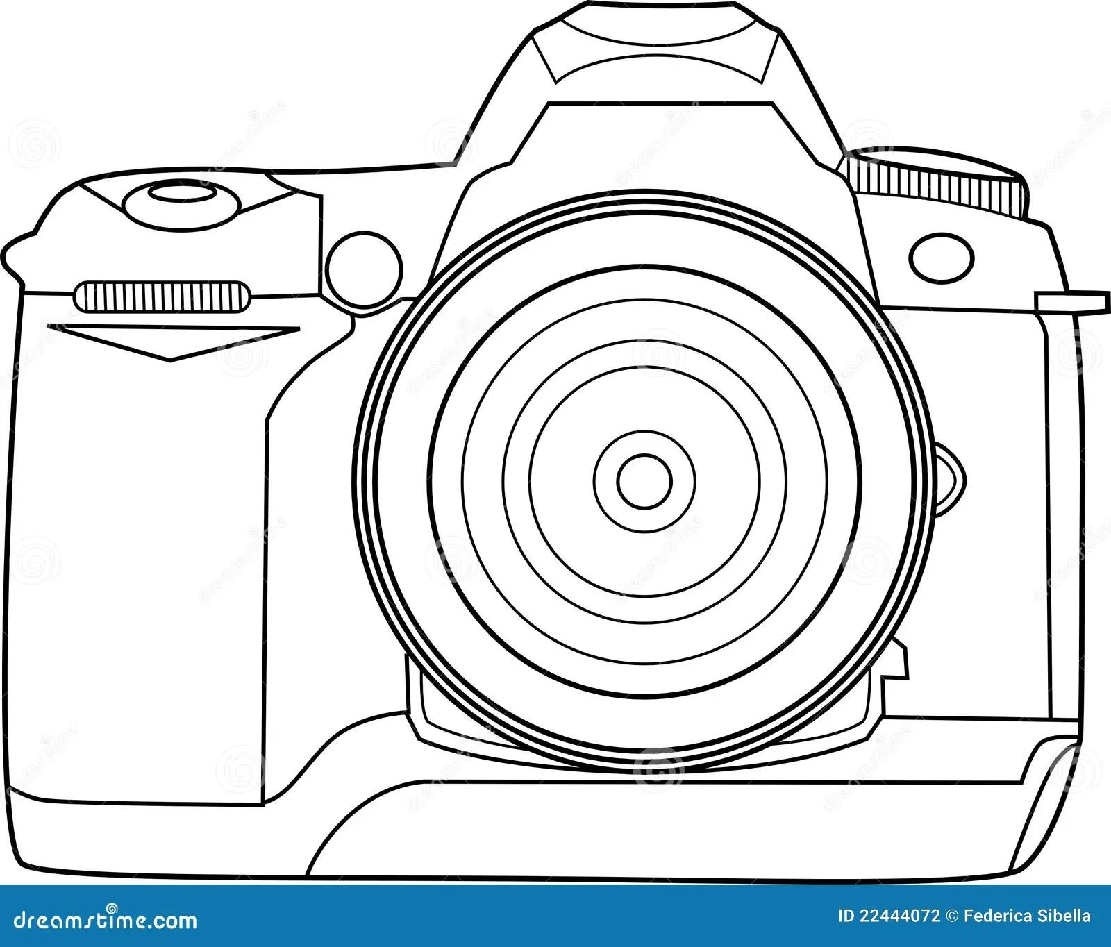 Profilo Di Vettore Della Macchina Fotografica