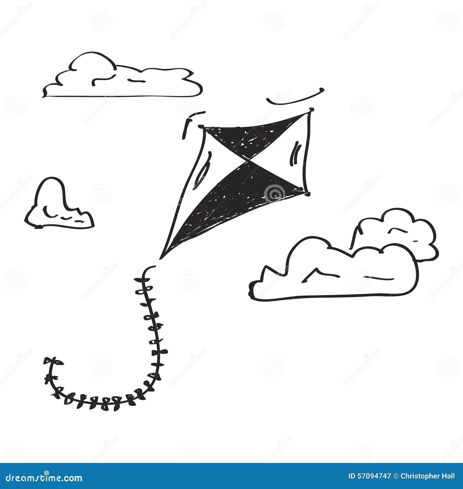 Prosty Doodle Kania Ilustracja Wektor Ilustracja Z O Onej