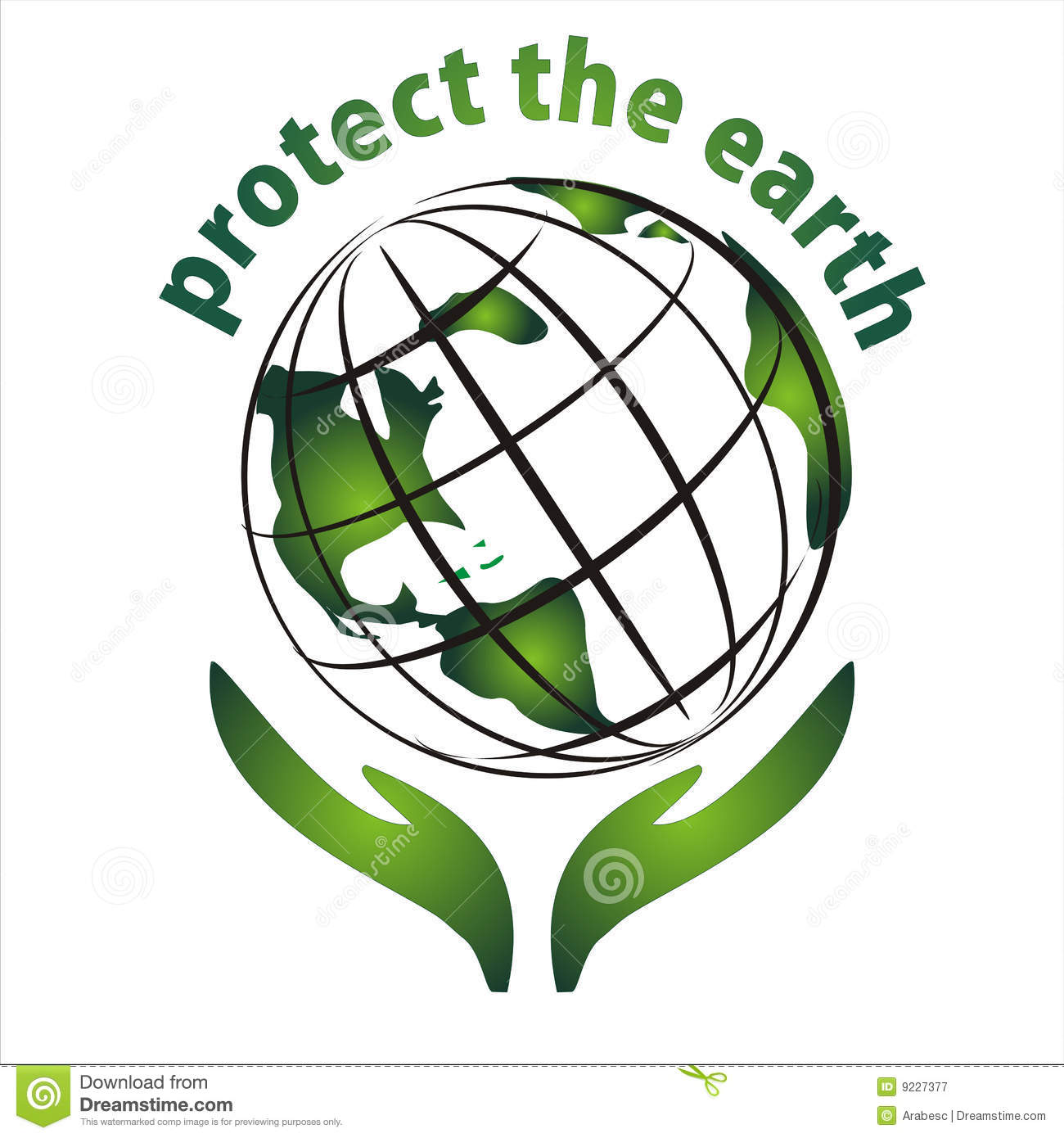 Protect The Earth Icon Stock Vector Illustration Of Green