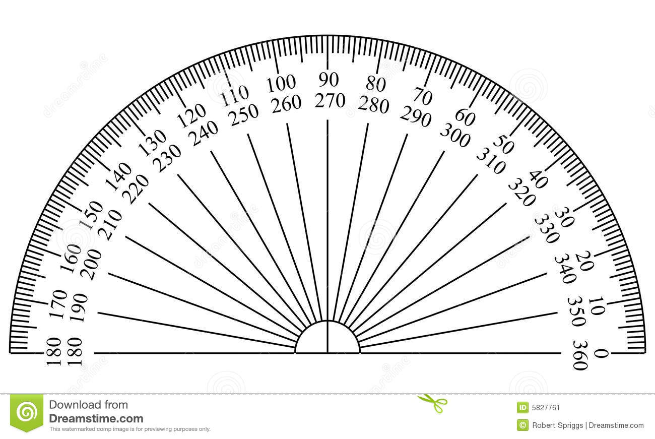 Protractor Template Stock Illustration Illustration Of