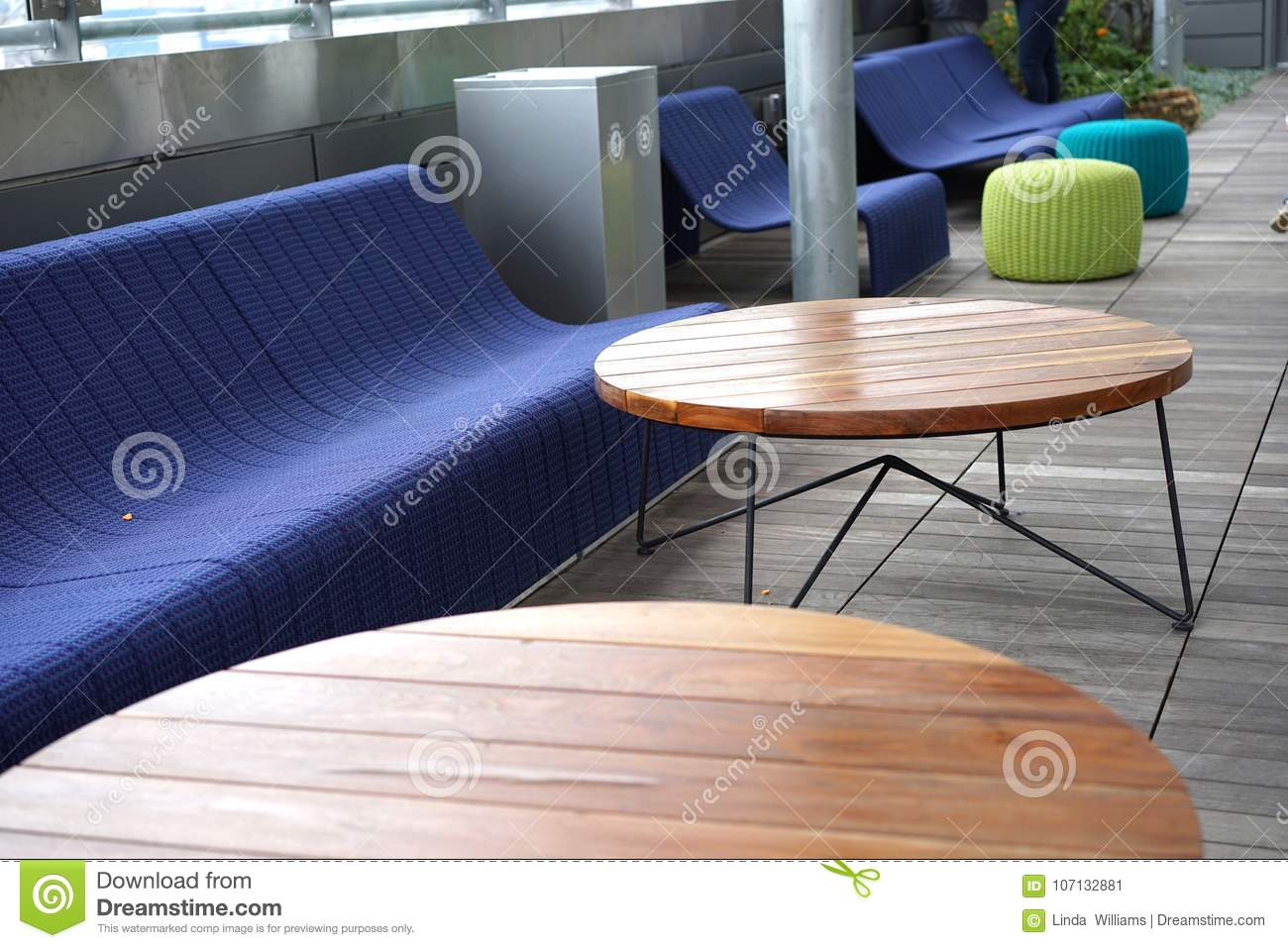 https www dreamstime com public library rooftop deck austin texas offers comfortable seating geometric tables great reading image107132881