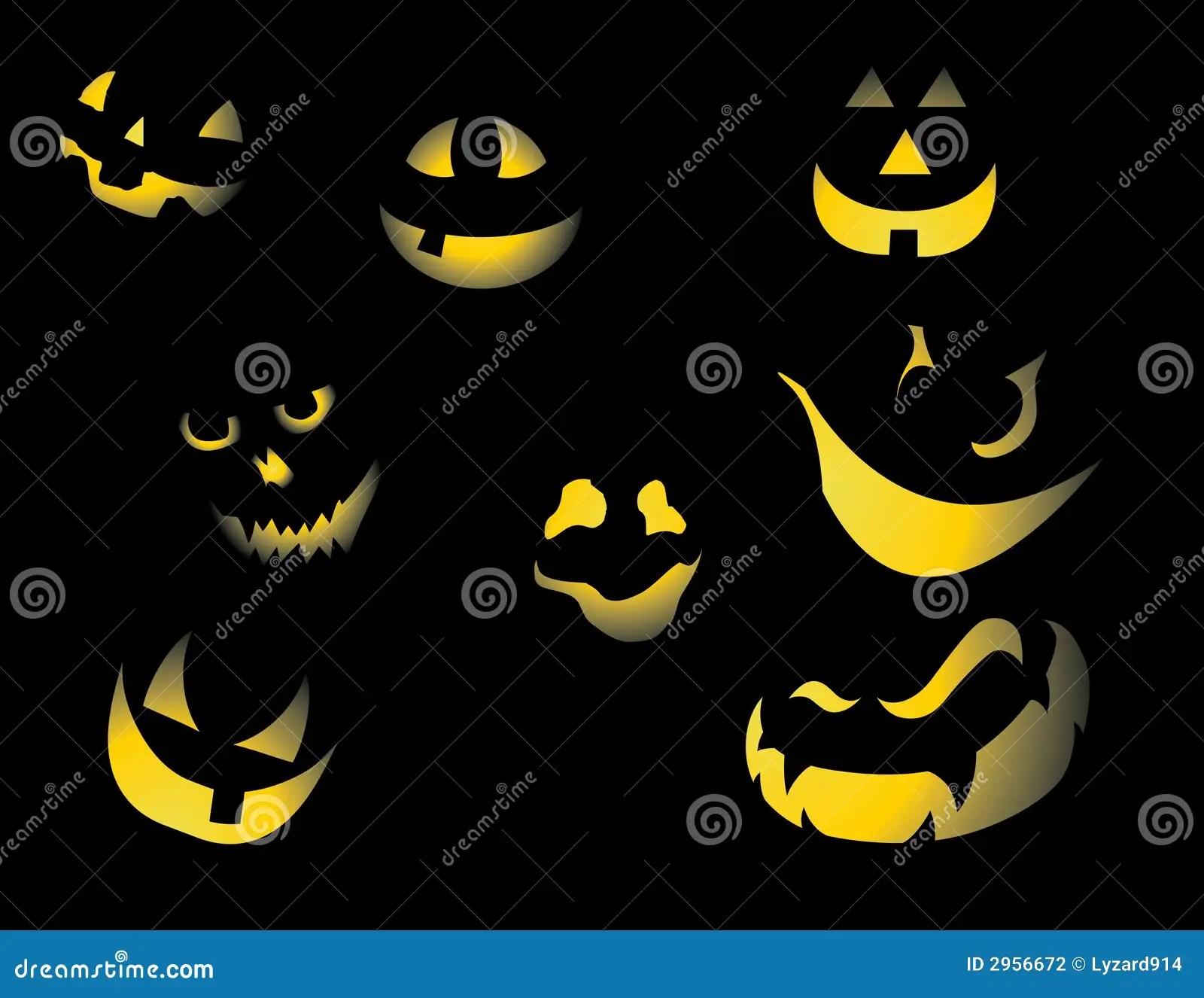 Pumpkin Faces Stock Photography