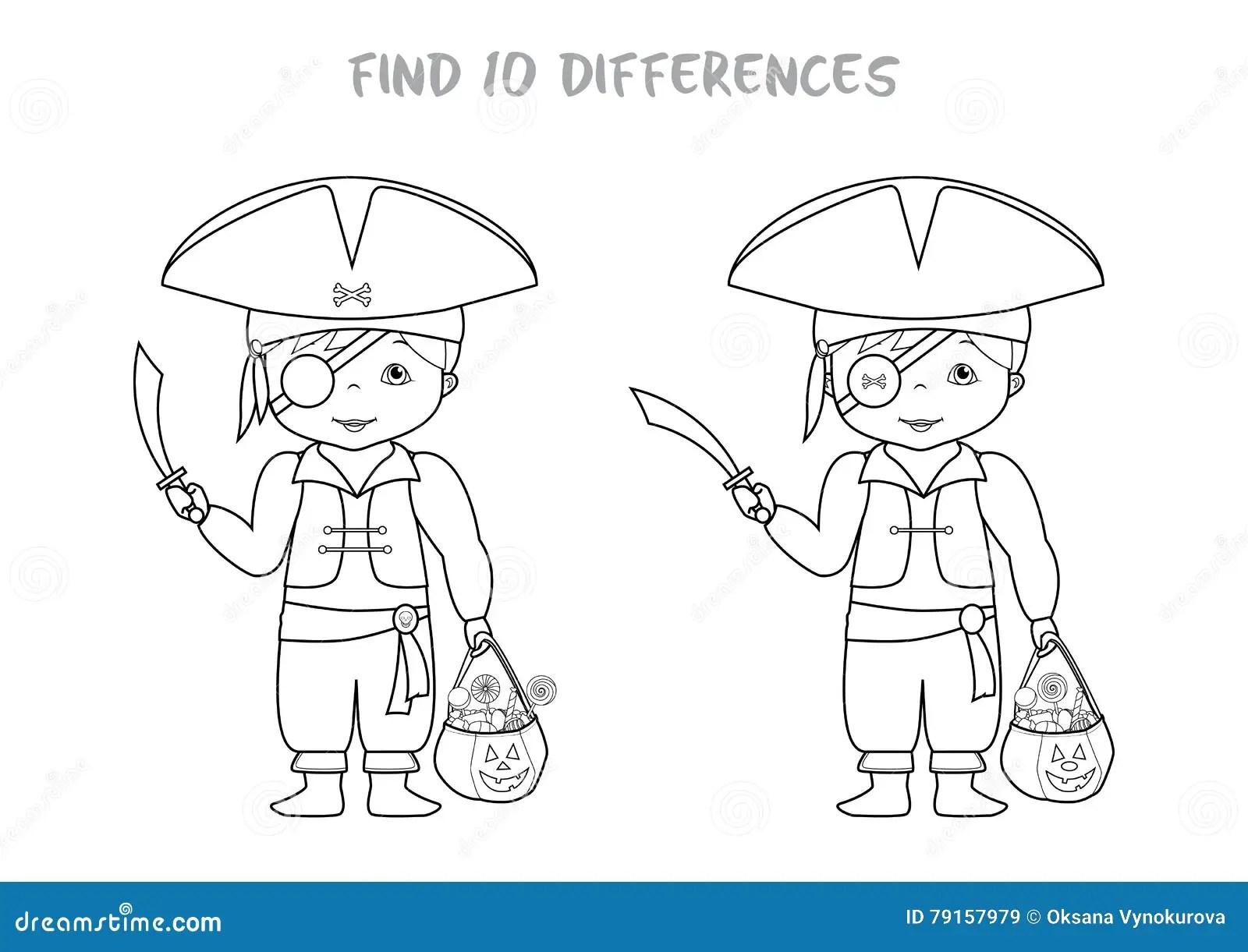 Punto De Halloween El Juego De La Diferencia Para Los