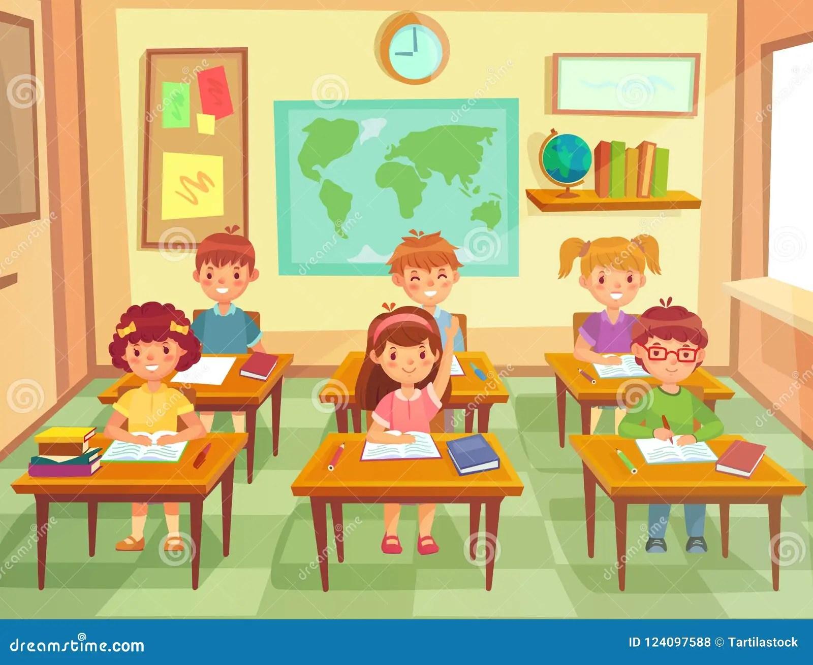 Pupil Kids At Classroom Primary School Children Pupils