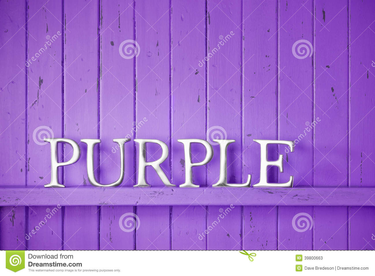 Purple Color Word Background Stock Image