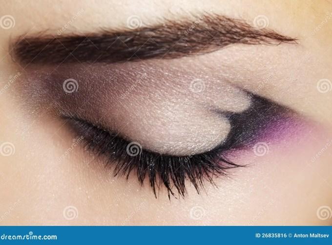 purple eye makeup stock photo. image of eyeshadows, girl