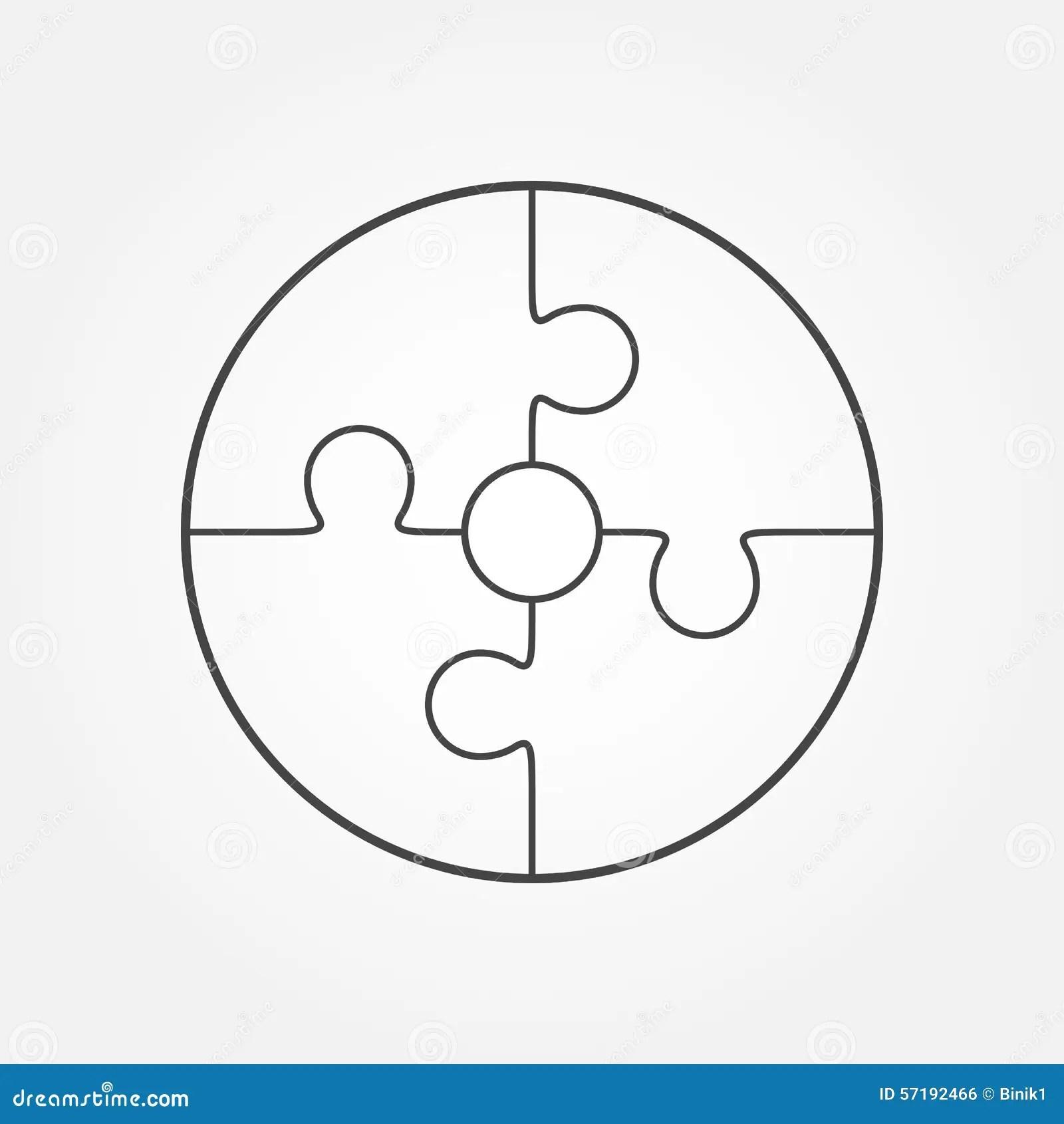 Puzzle In Form Von Kreis Stock Abbildung Illustration Von
