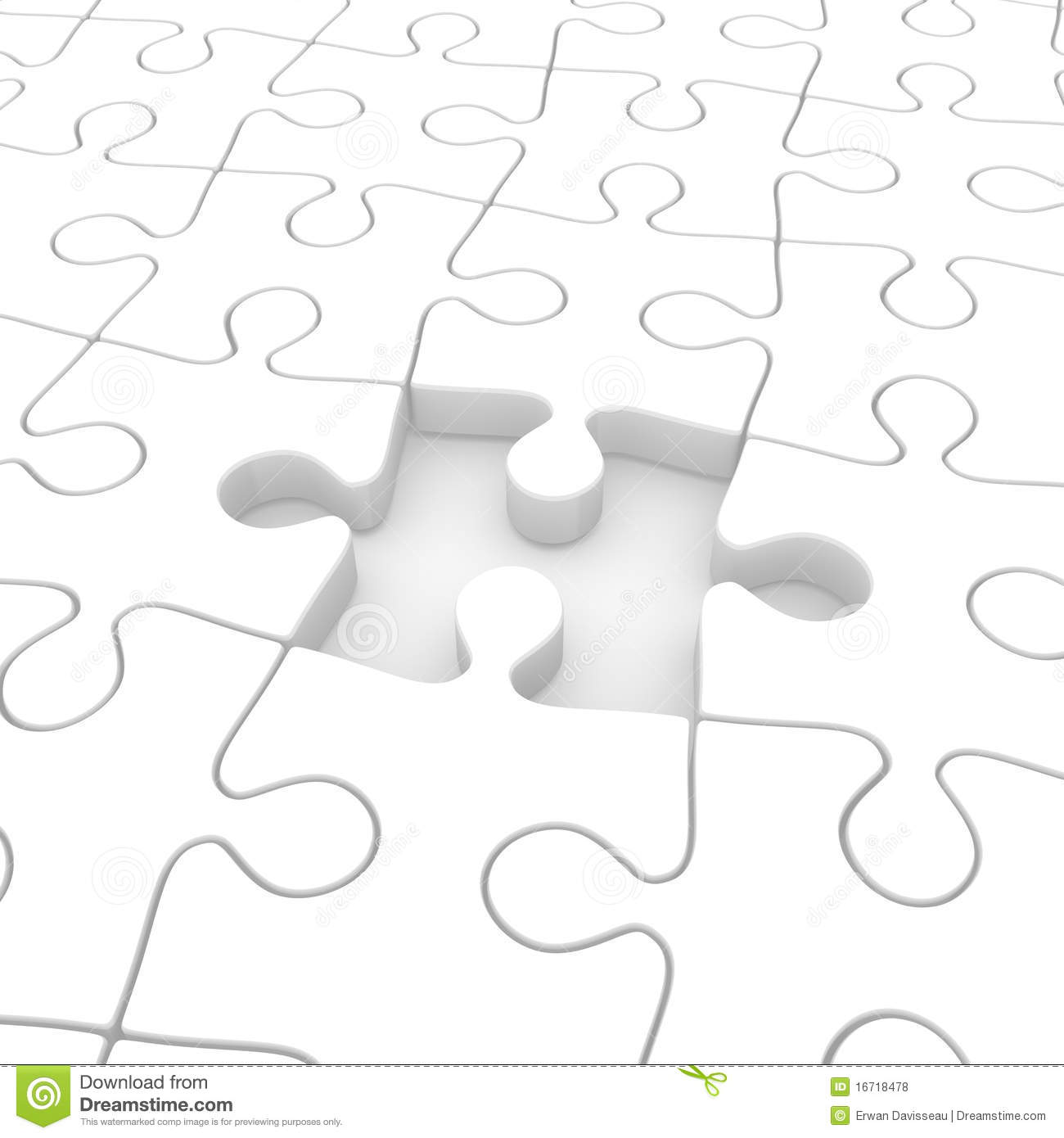 Puzzle Incomplete Royalty Free Stock Photos