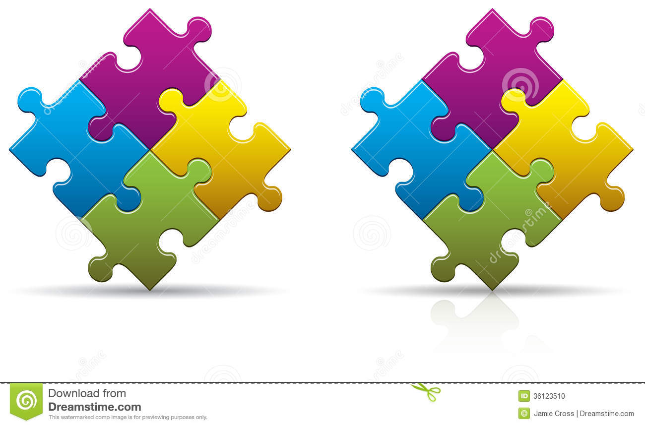 Puzzle Pieces Blank Stock Vector Illustration Of Balance