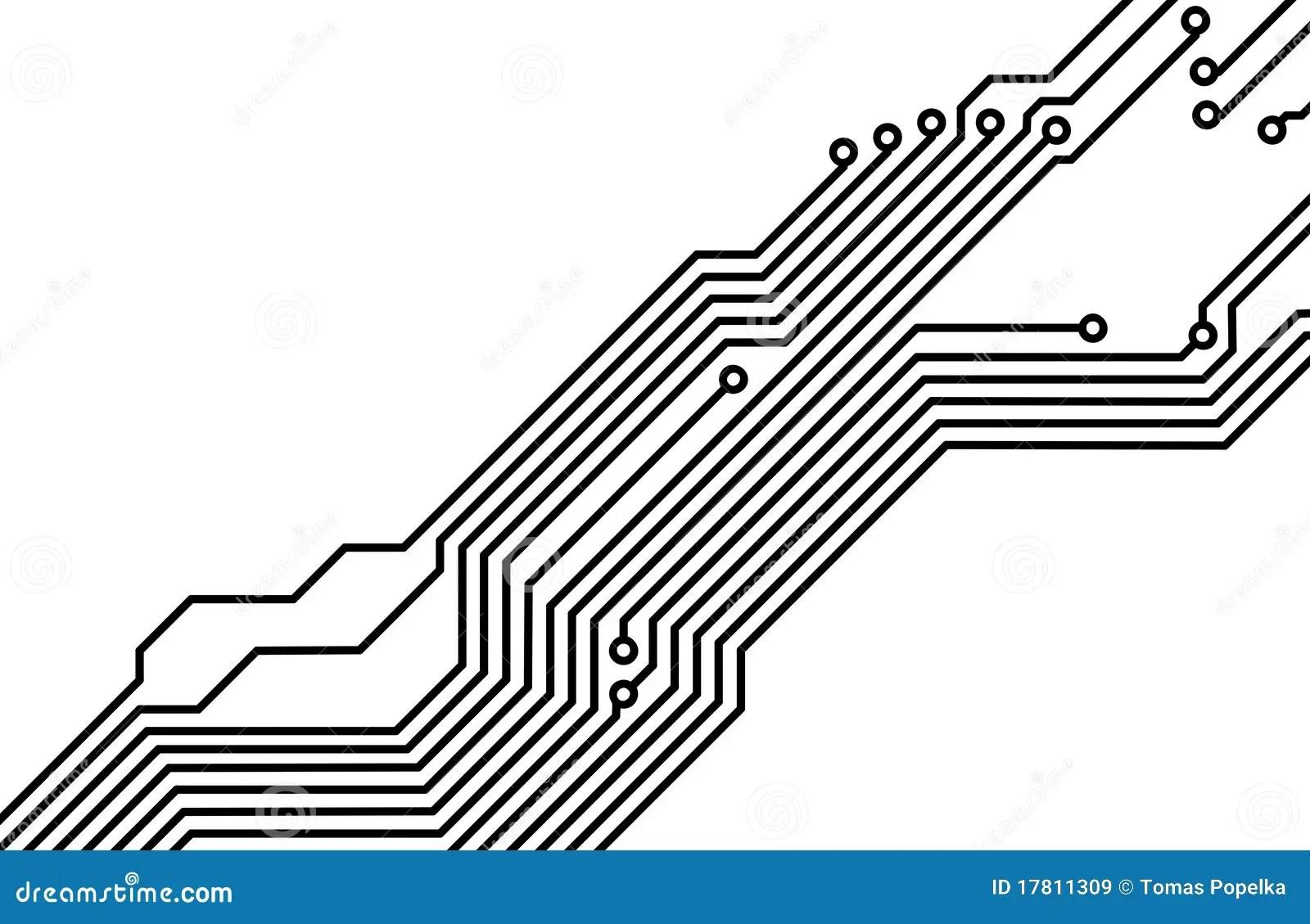 Pwb Tarjeta De Circuitos Impresos 8 Stock De Ilustracion