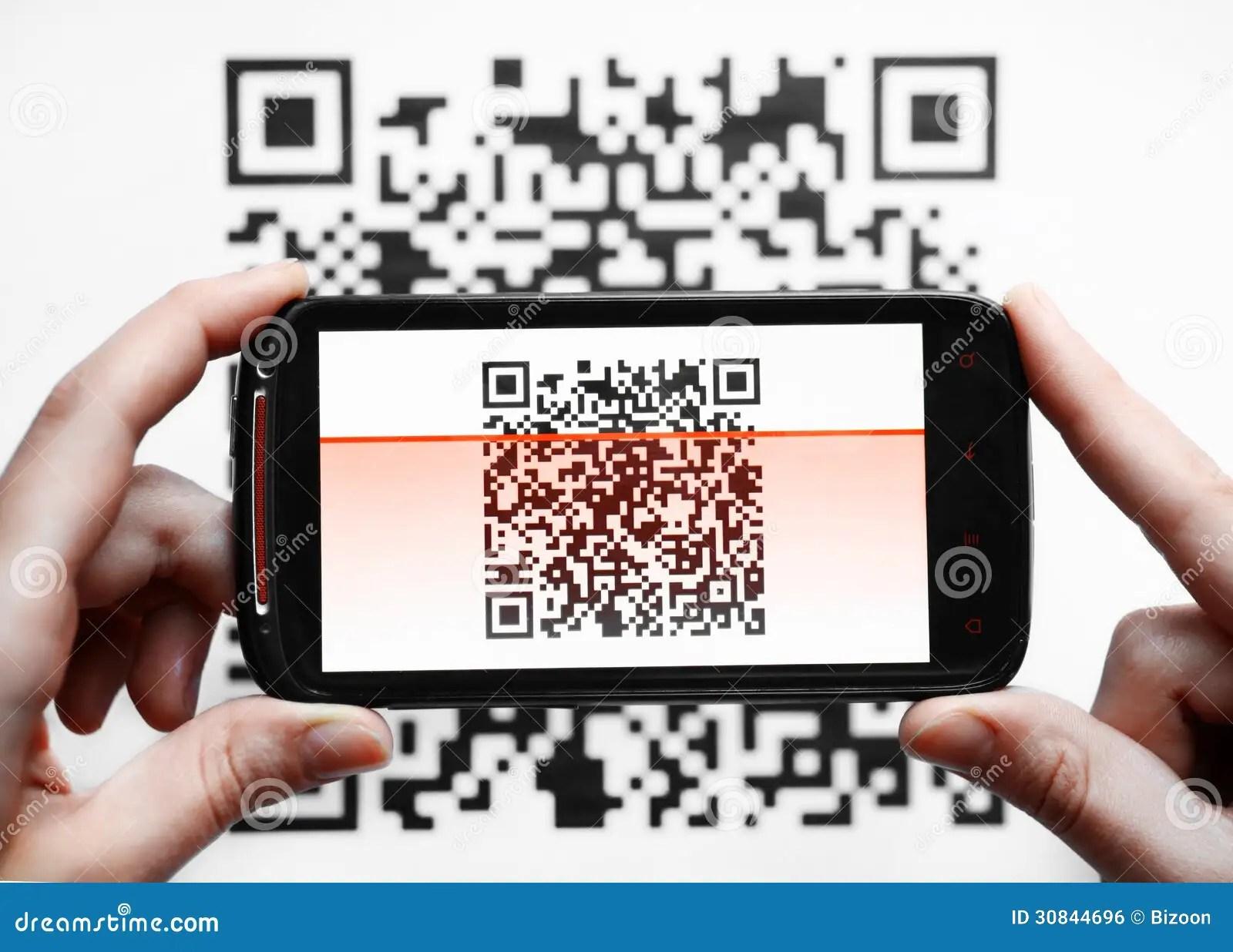 QR Code Mobile Scanner Royalty Free Stock Image Image