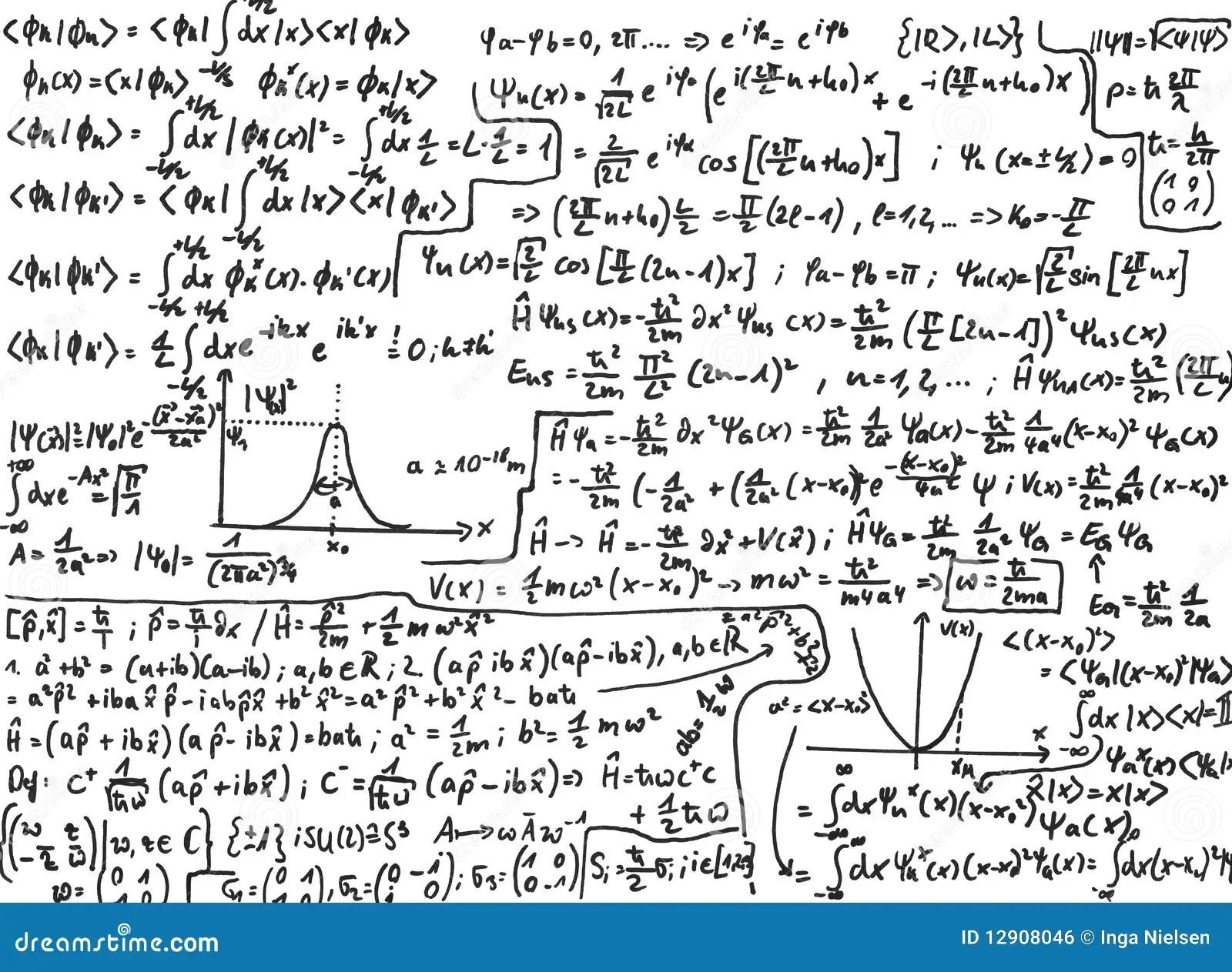 Quantum Mechanics Stock Photo Image Of Sketch