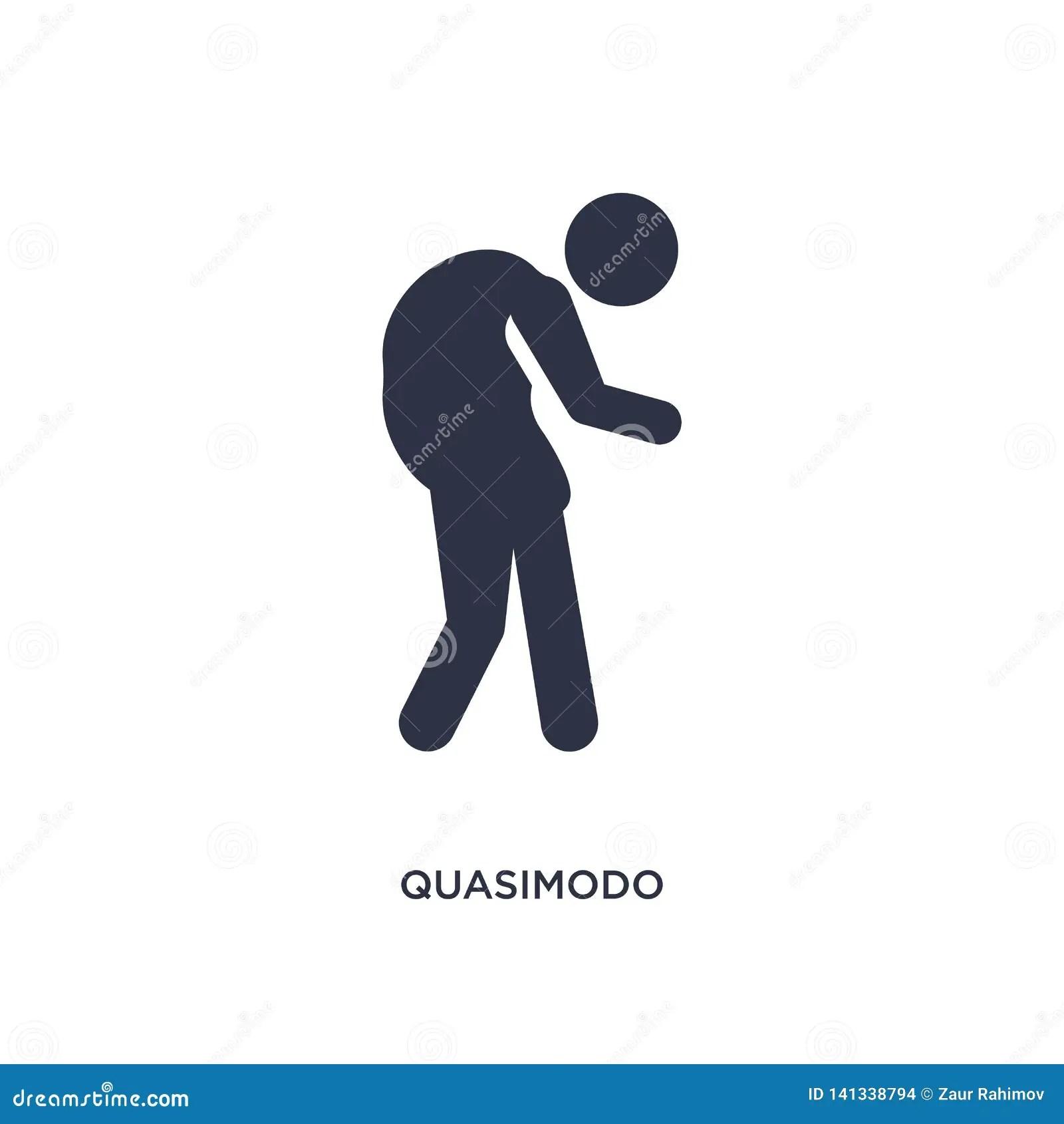 Quasimodo Icon On White Background Simple Element