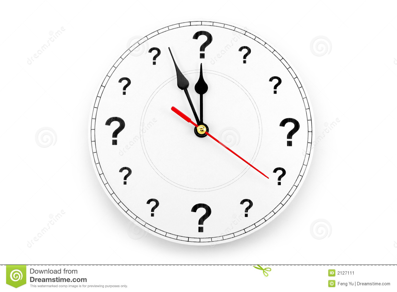 Question Mark Clock Stock Image Image Of Interrogation