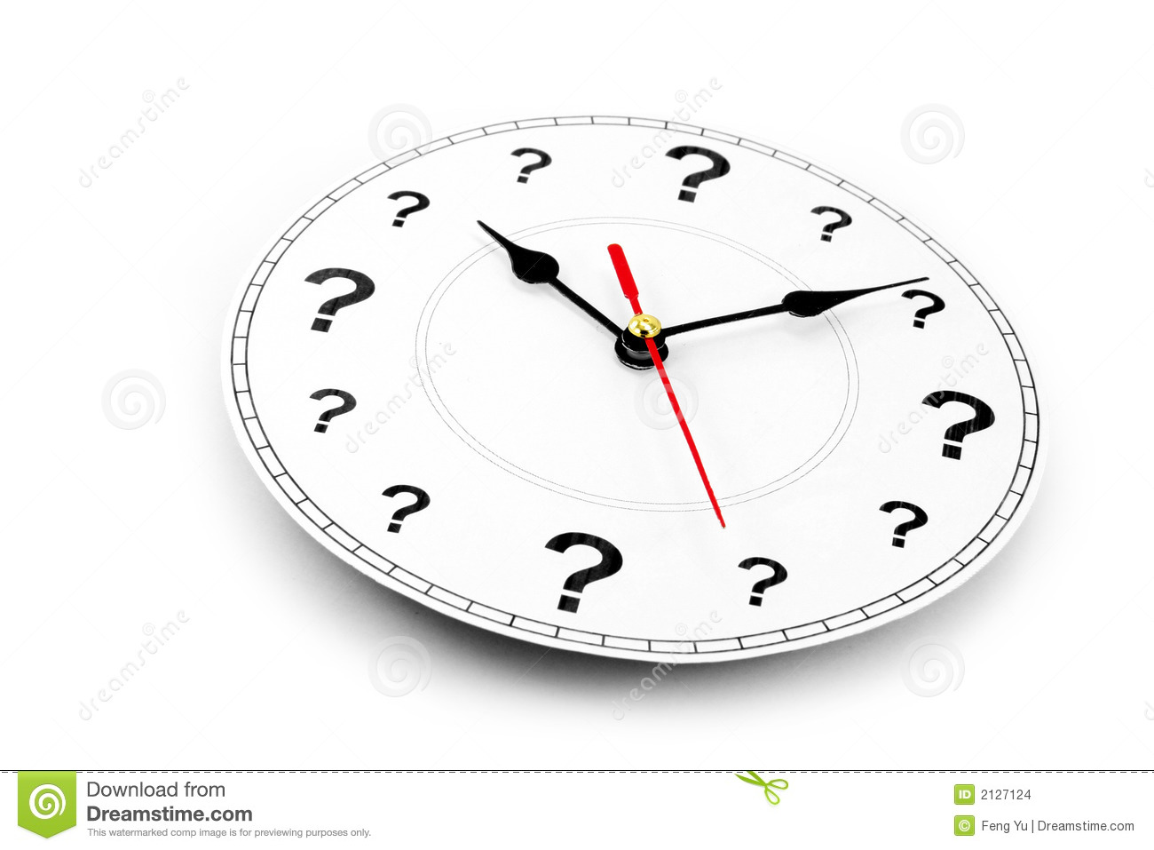 Question Mark Clock Stock Images